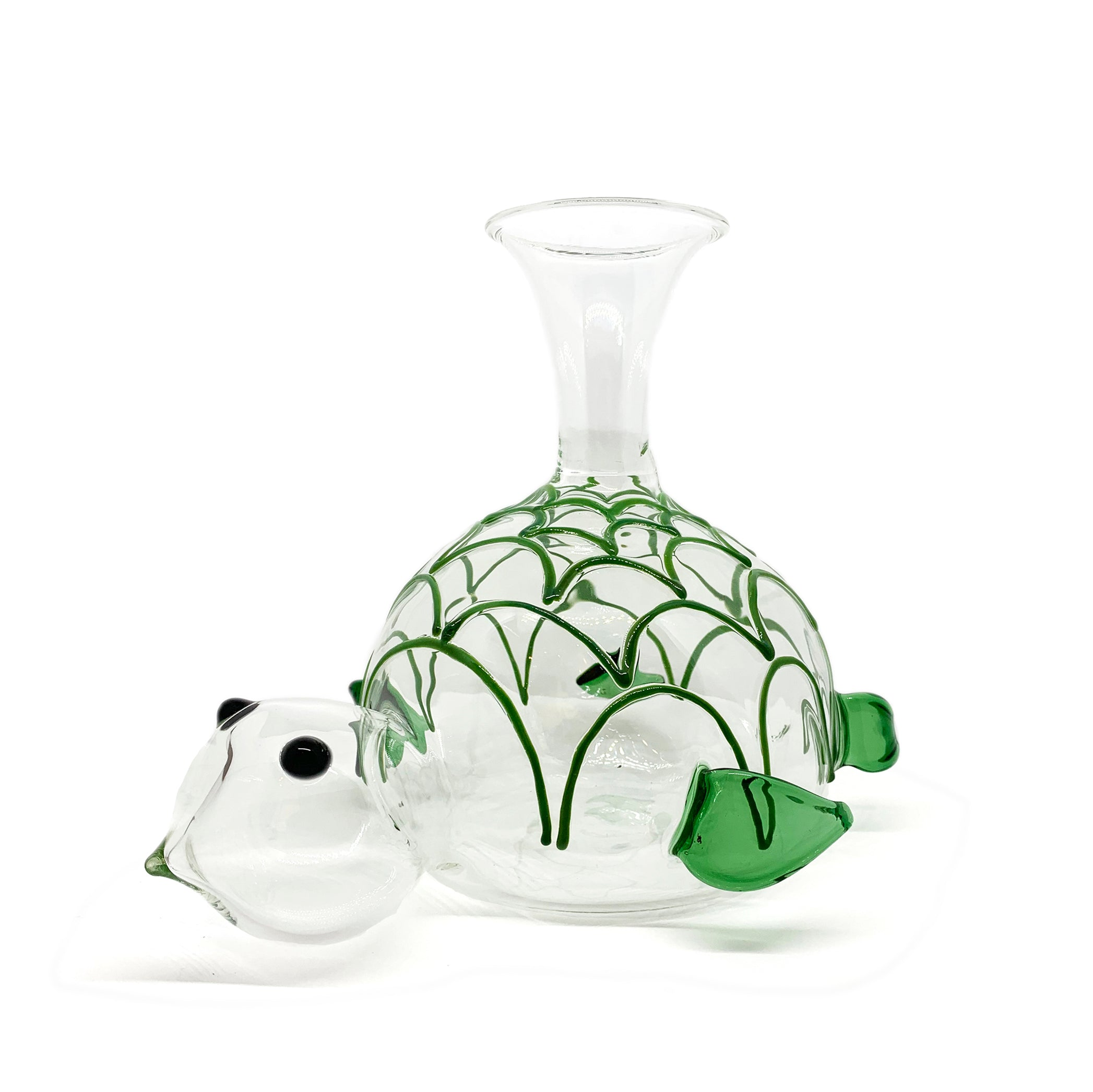 Handblown Glass Turtle Decanter