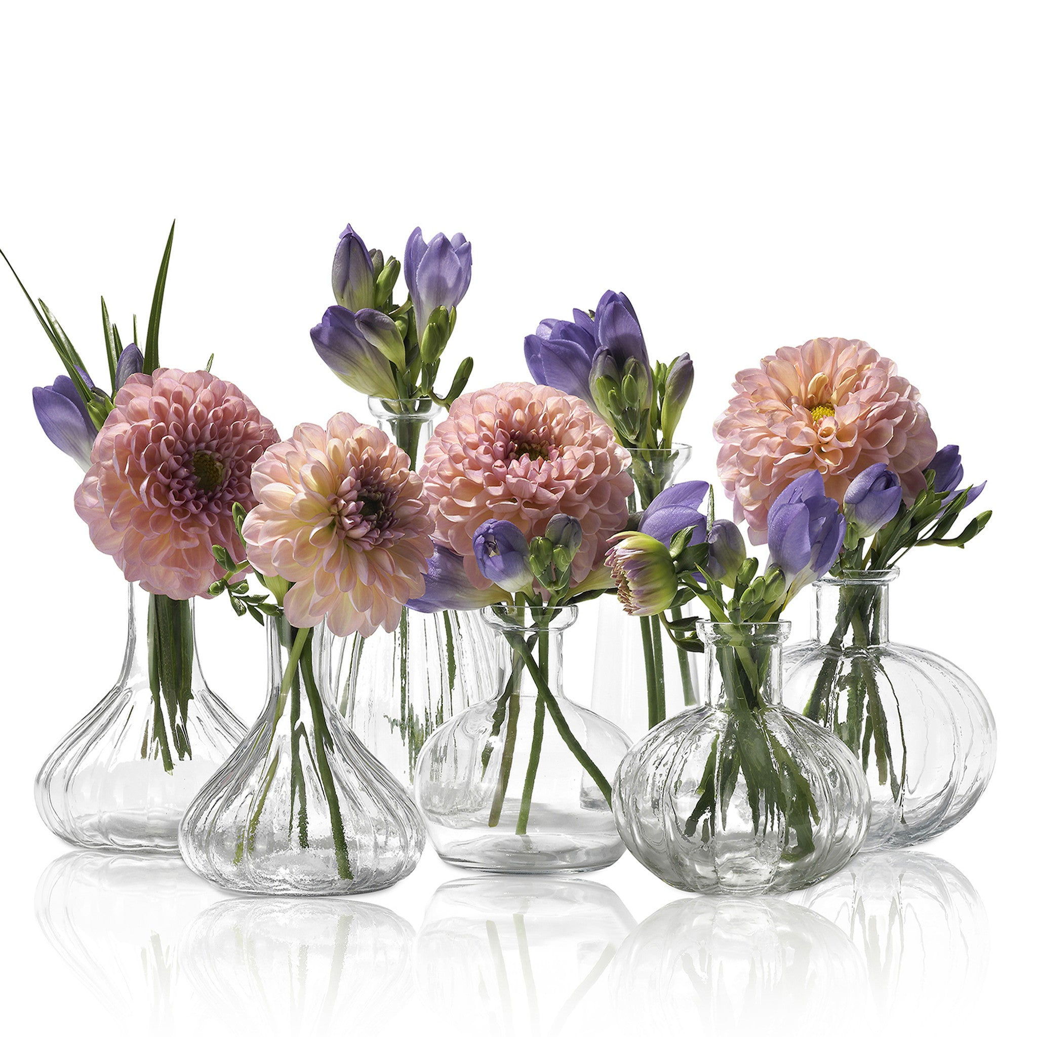 Glass Flower Vase - Bianca