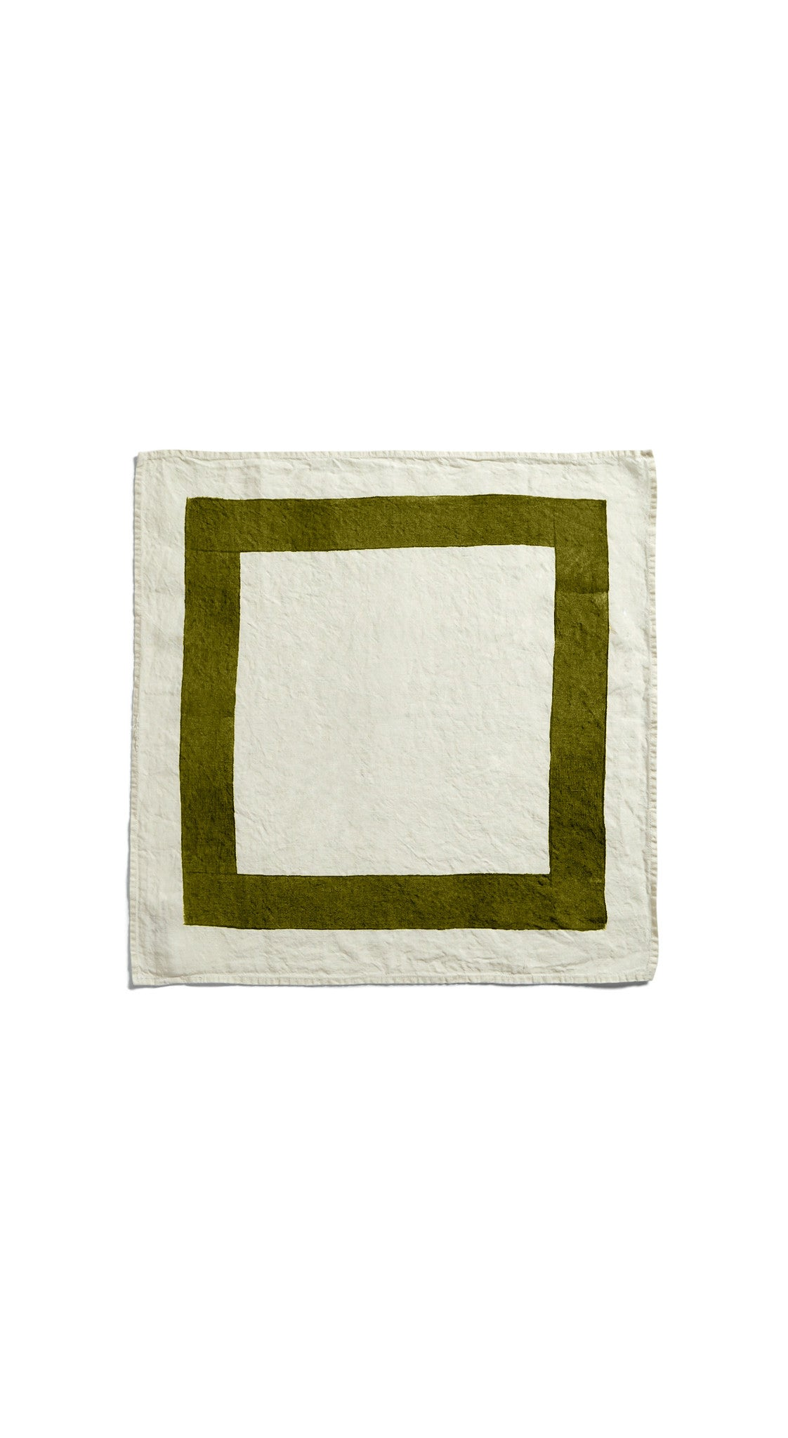 Cornice Linen Napkin in Avocado Green
