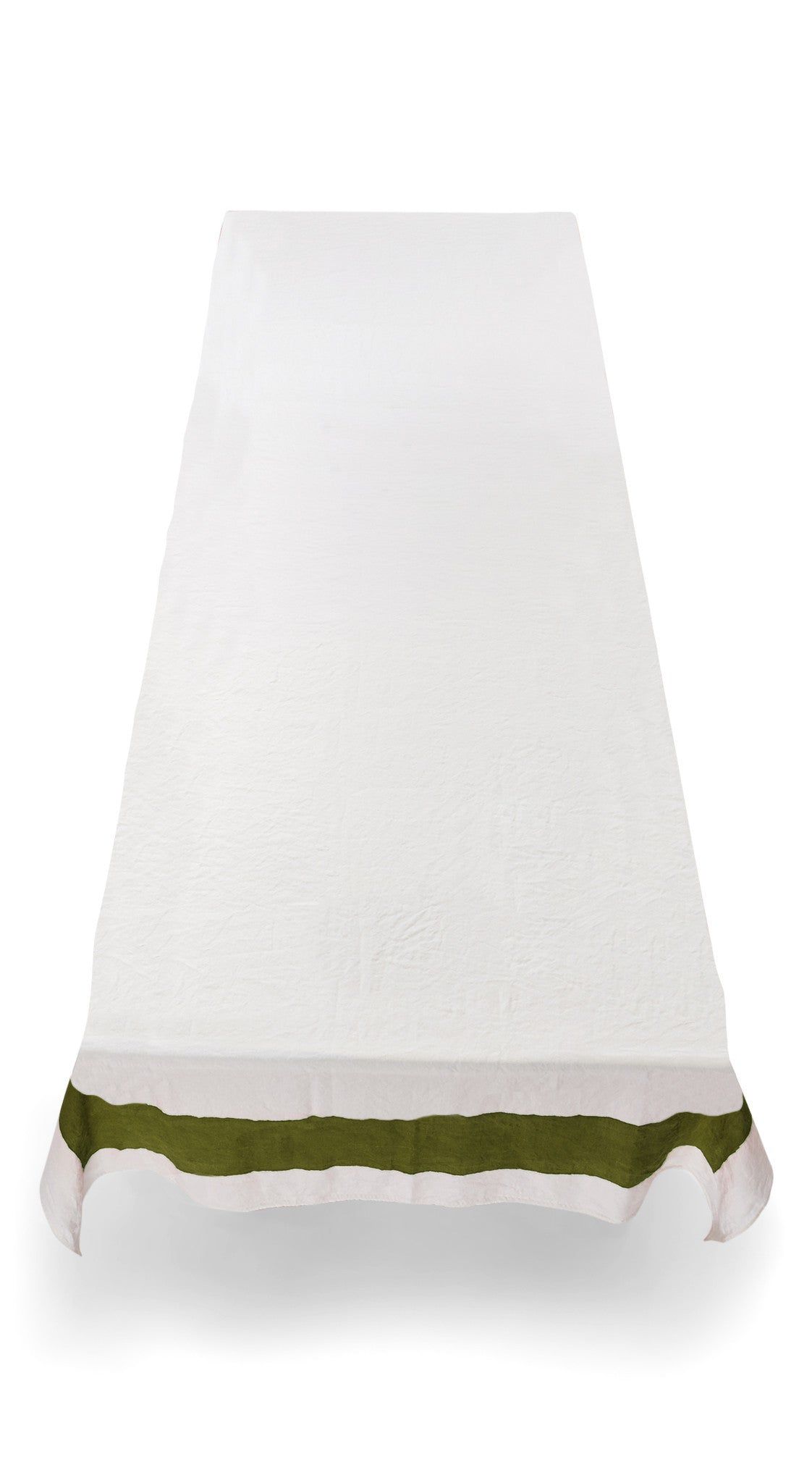 Cornice Linen Tablecloth in Avocado Green