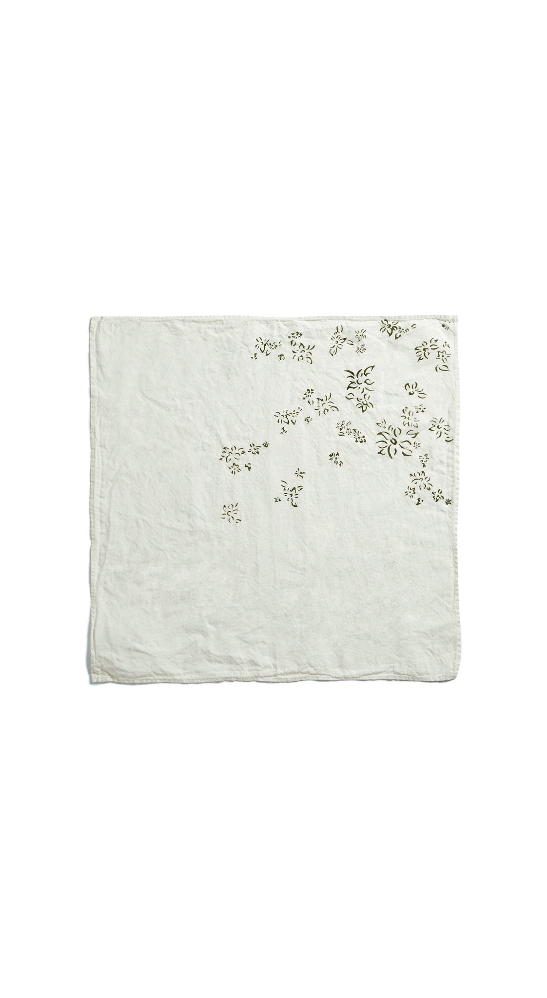 Bernadette's Falling Flower Linen Napkin in Avocado Green