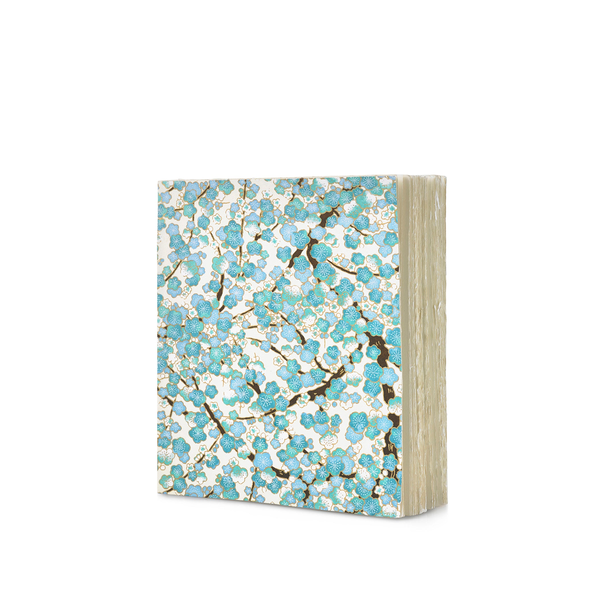 Handprinted Japanese Chiyogami Covered Sketchbook, Apple Blossom