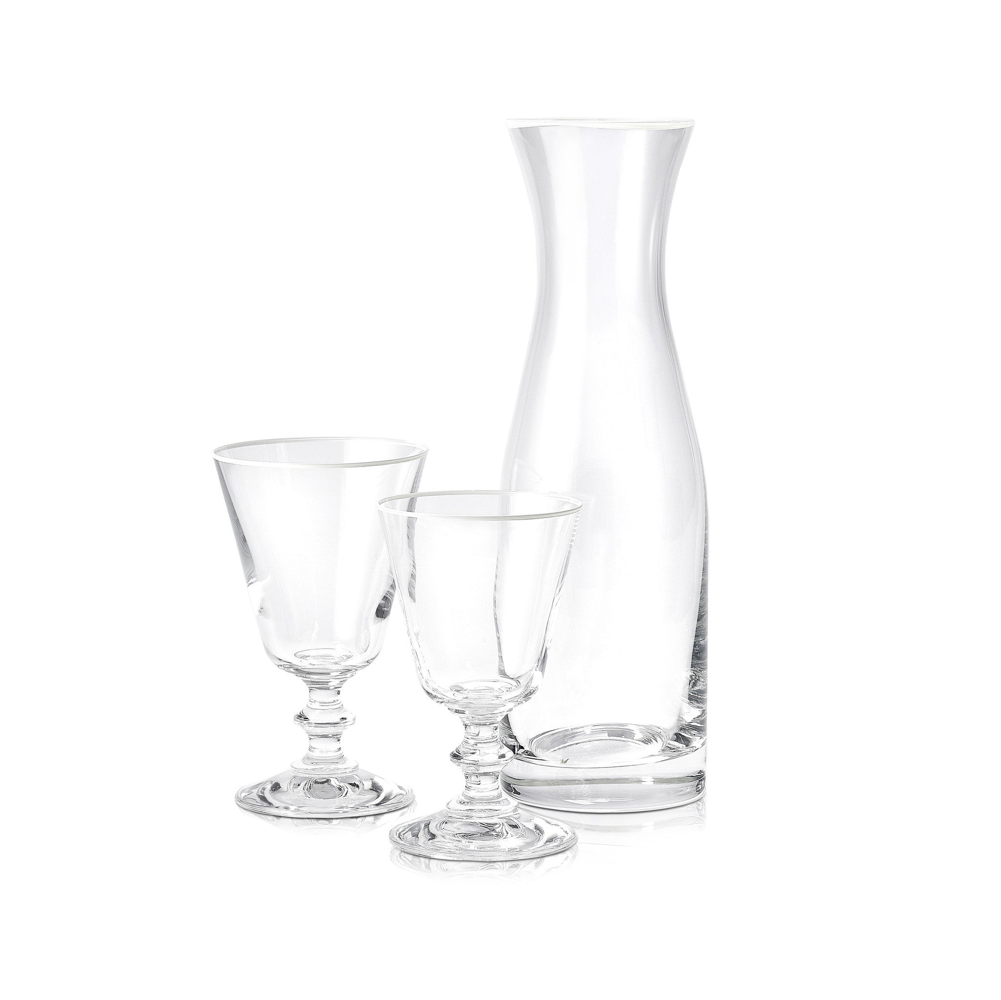 S&B Glass Water Carafe with White Rim