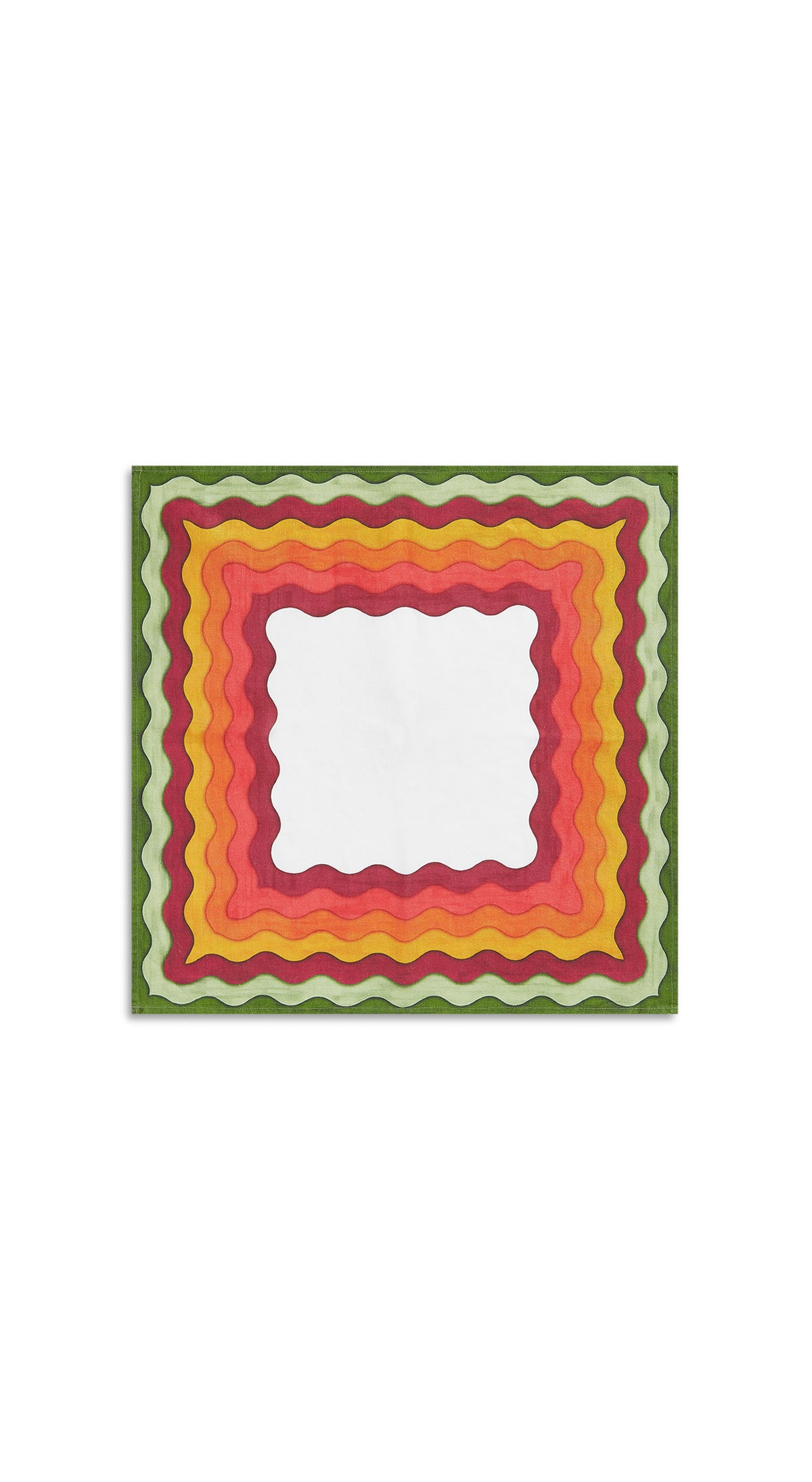 Winter Rainbow Linen Napkin in Multicolours