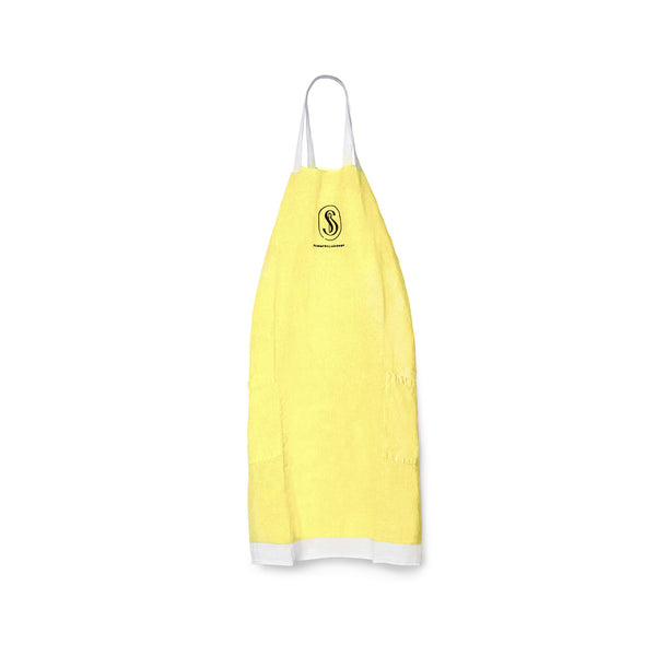 Wrap Around Linen Apron in Lemon Yellow