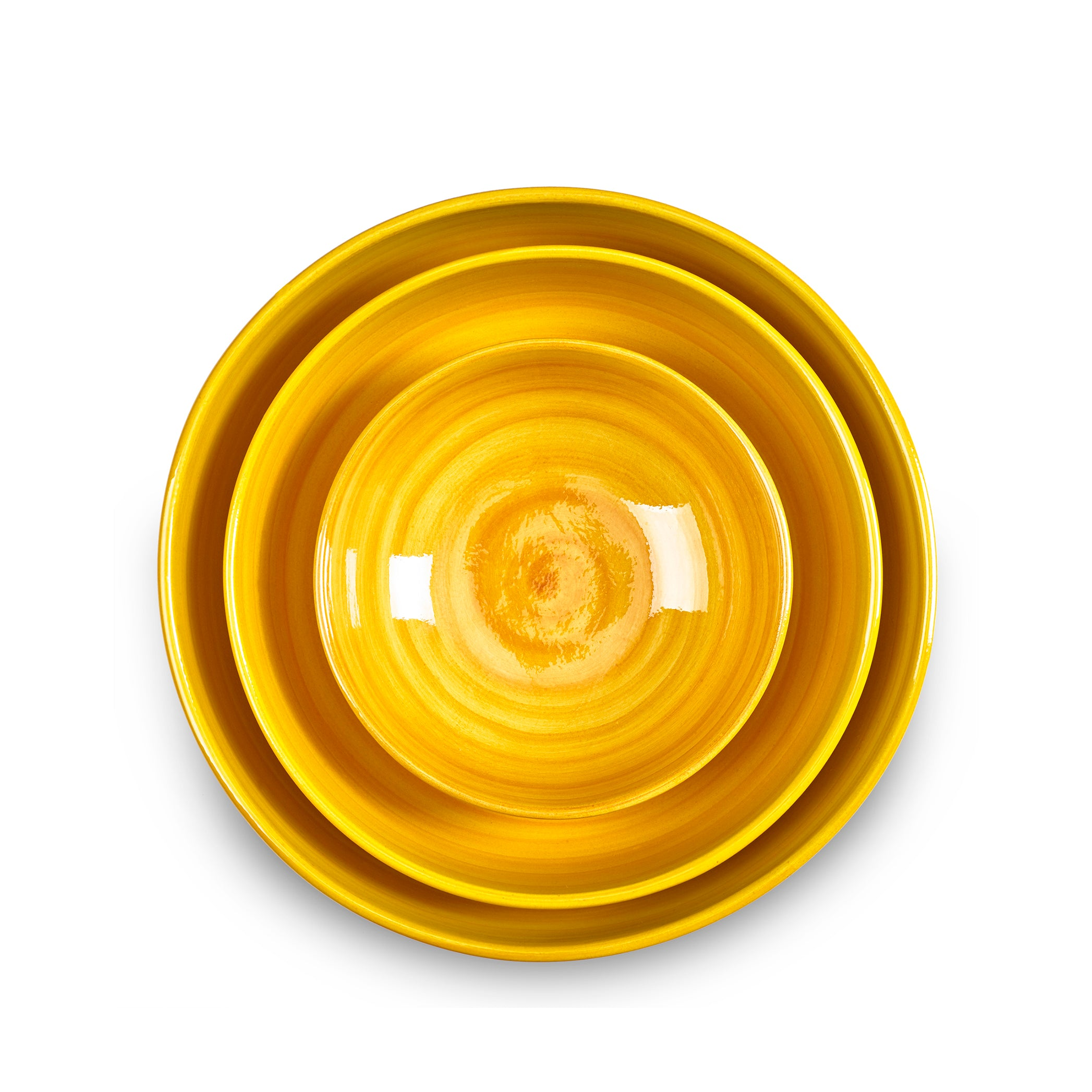 "S&B ""La Couronne"" 30cm Ceramic Large Serving Bowl in Yellow"
