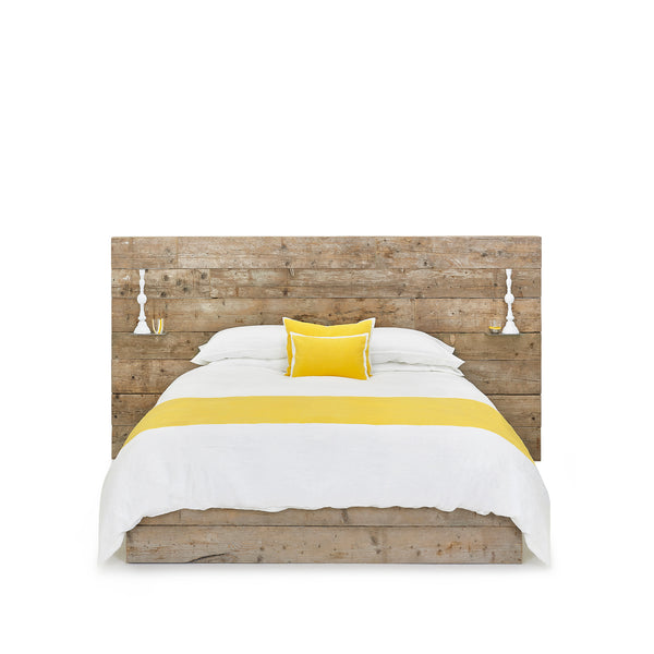 """S&B Classic"" Linen Bed Set in Lemon Yellow, Double"