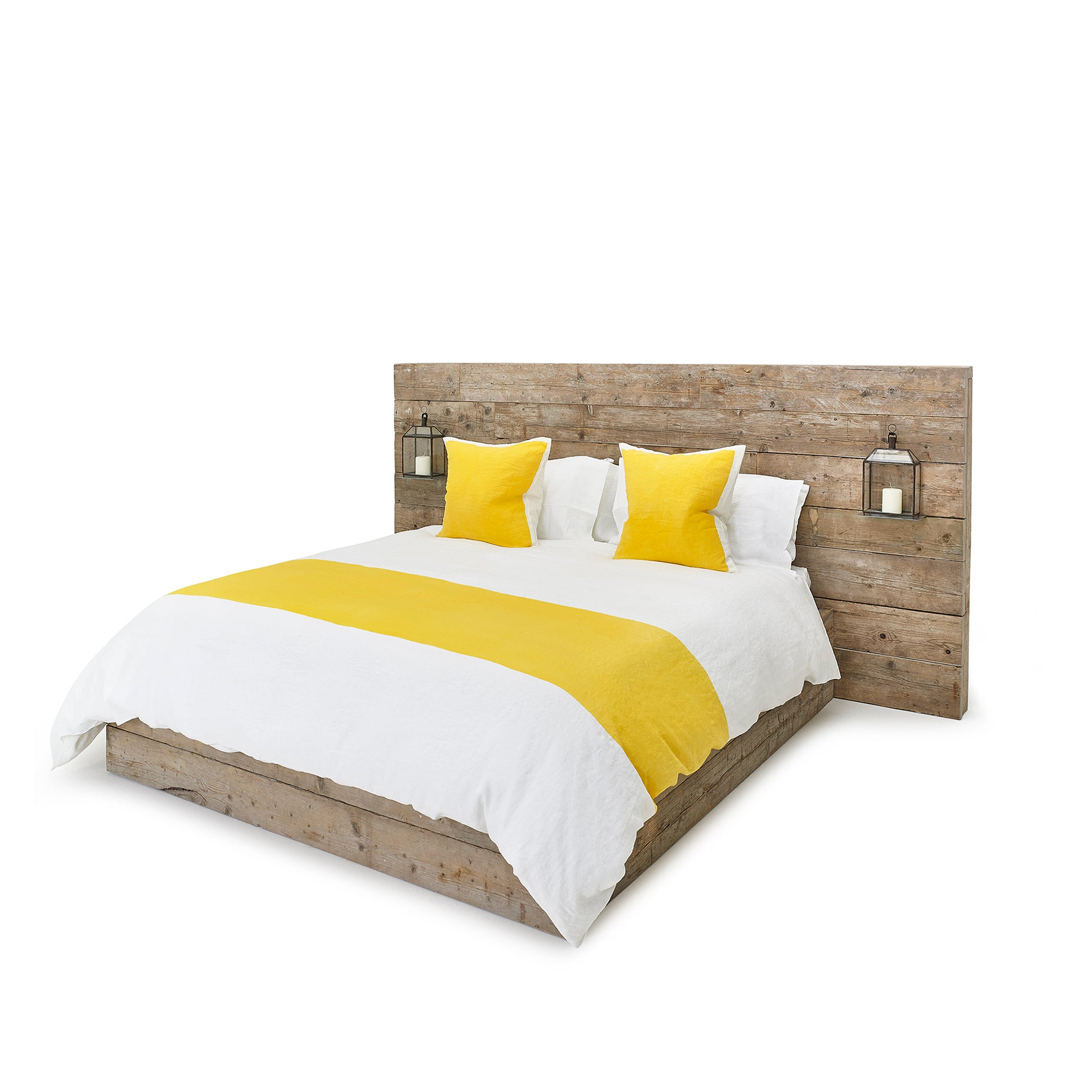 """S&B Classic"" Linen Bed Set in Lemon Yellow, Super King"