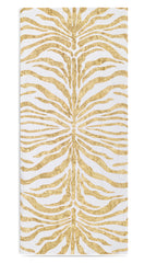 MADE TO ORDER - Hand Painted Zebra Linen Tablecloth in Gold