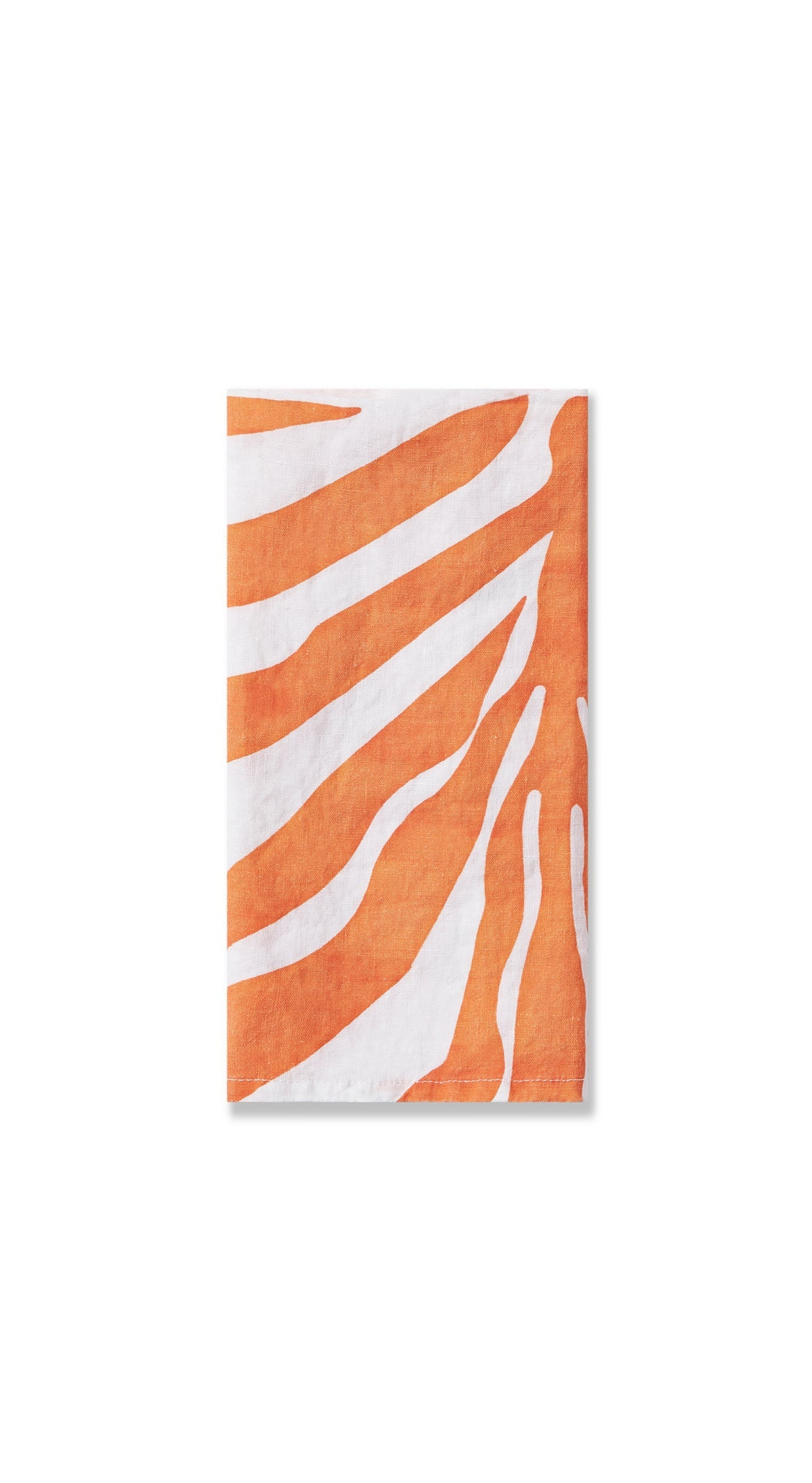 Zebra Linen Napkin in Tangerine Orange