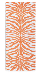 Zebra Linen Tablecloth in Tangerine Orange