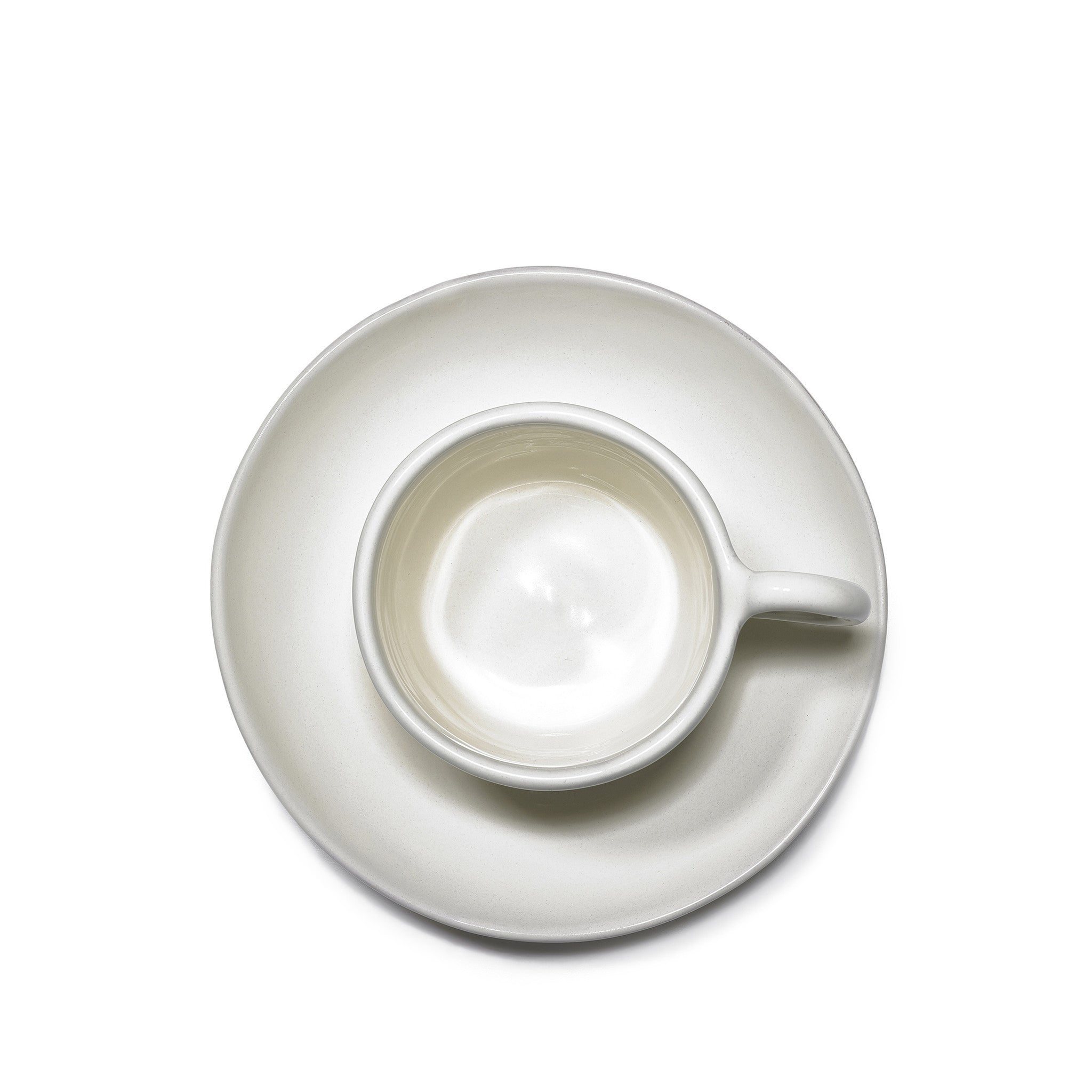 Espresso Cup and Saucer in Ivory