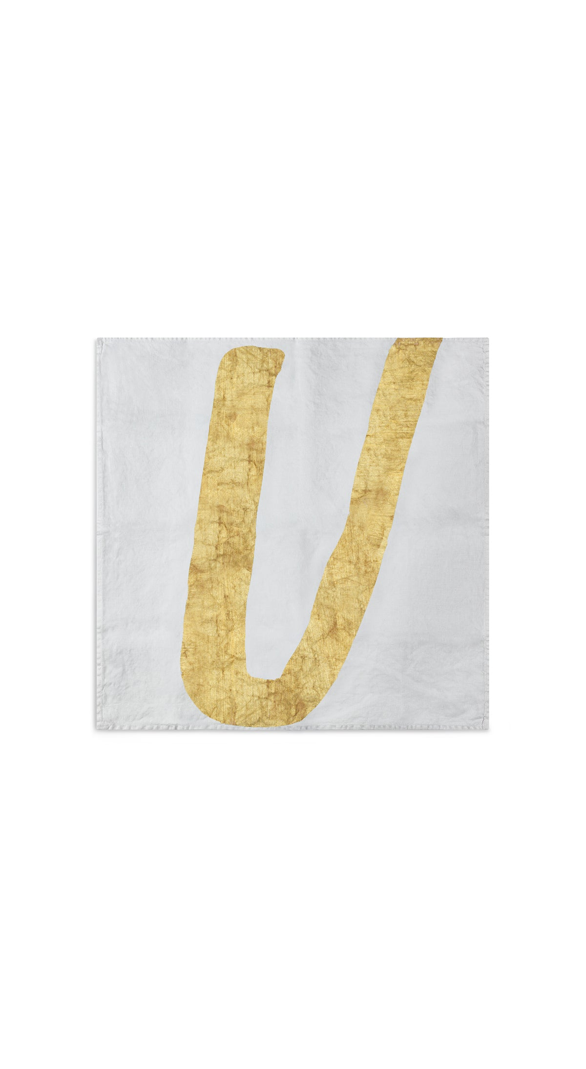 Alphabet Napkin 'U' in Gold