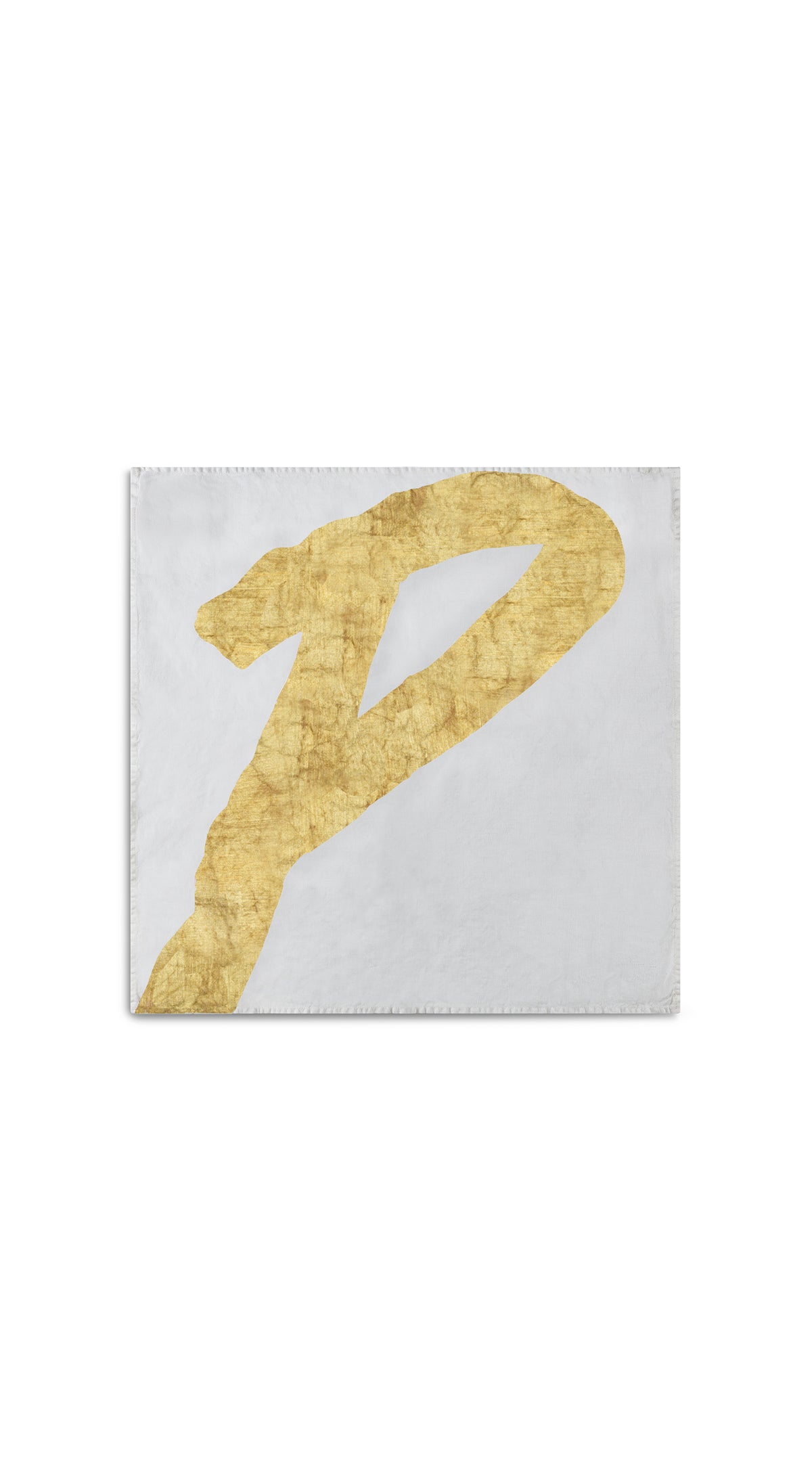 Alphabet Napkin 'P' in Gold