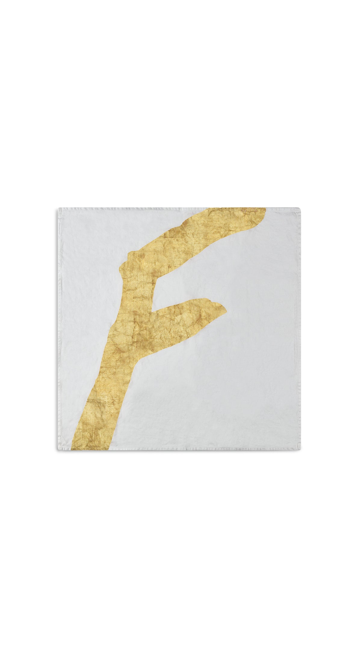 Alphabet Napkin 'F' in Gold