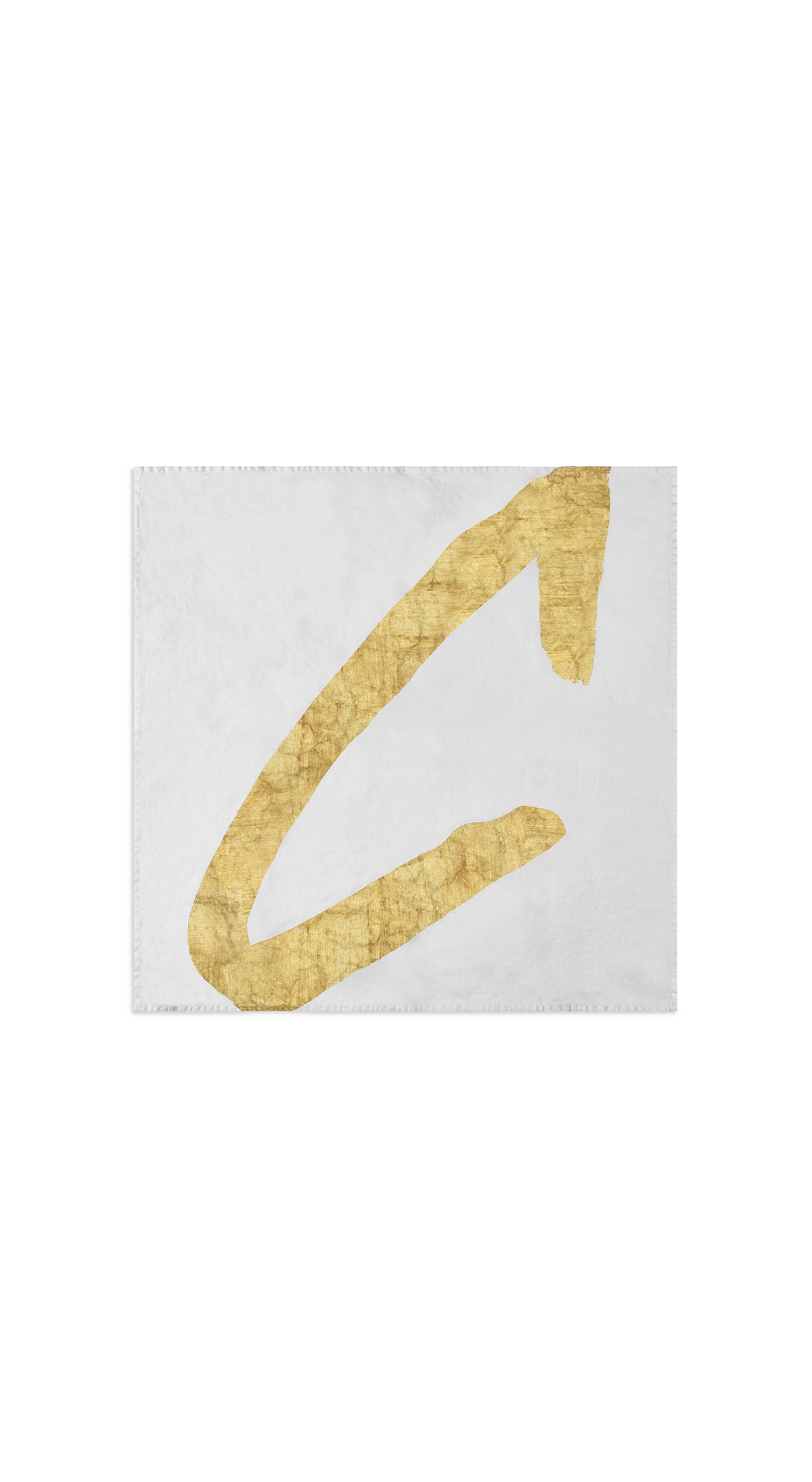 Alphabet Napkin 'C' in Gold