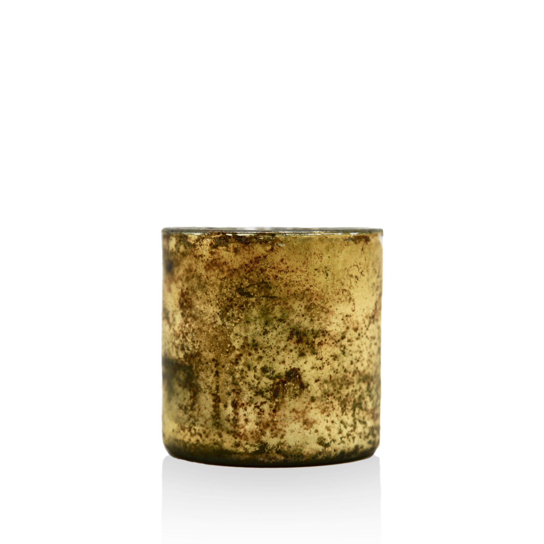 Antiqued Glass Tea Light in Gold
