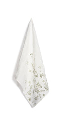 Bernadette's Falling Flower Linen Tea Towel in Avocado Green