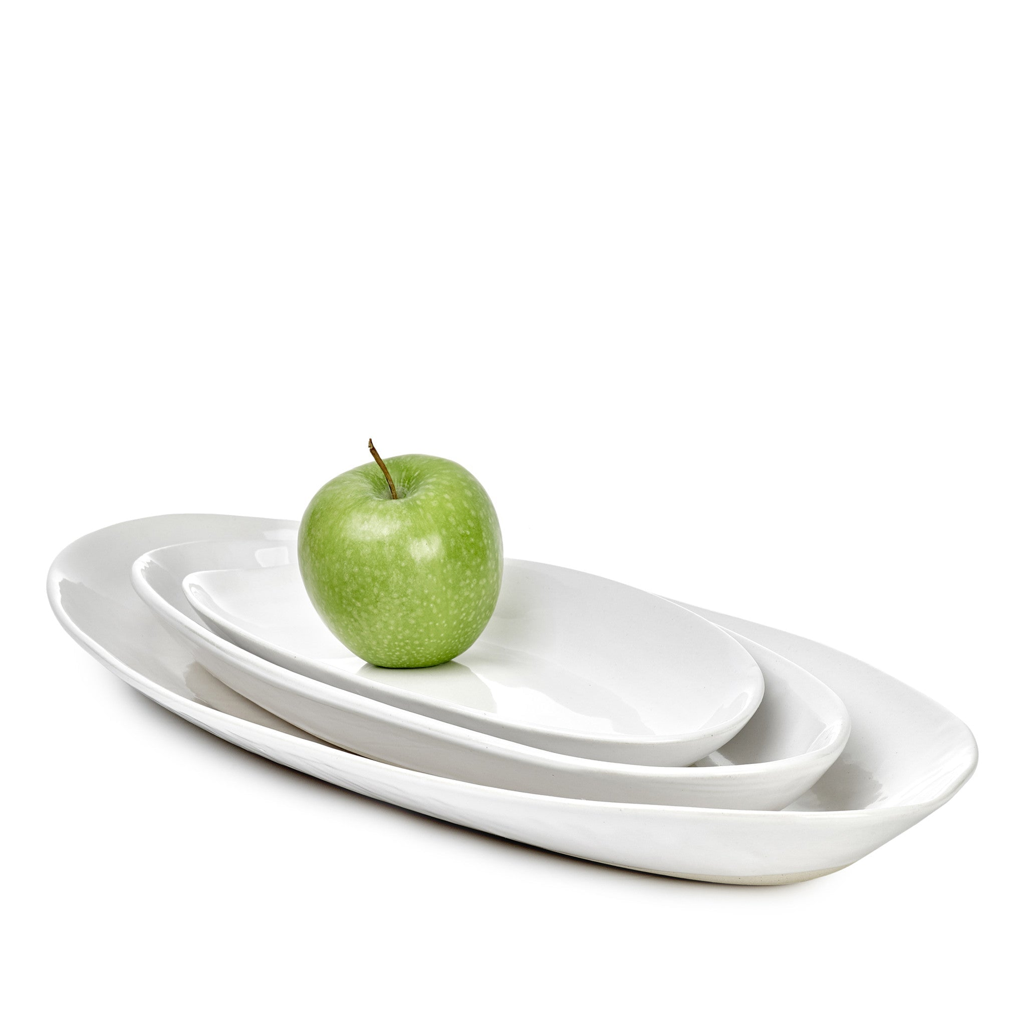 Wonki Ware Small Bamboo Platter in White, 35cm