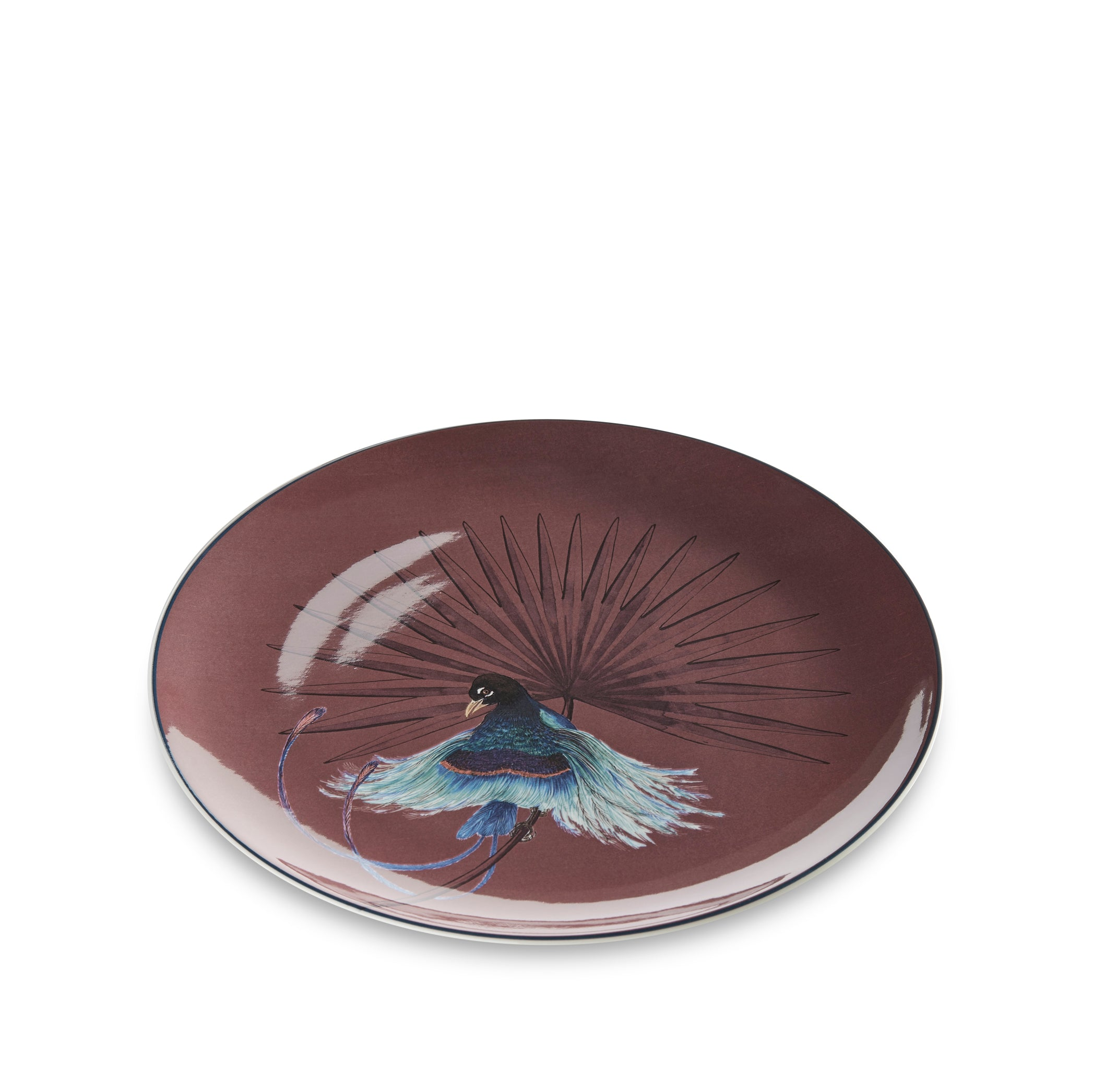 Bird Of Paradise 25cm Dinner Plate in Mahogany