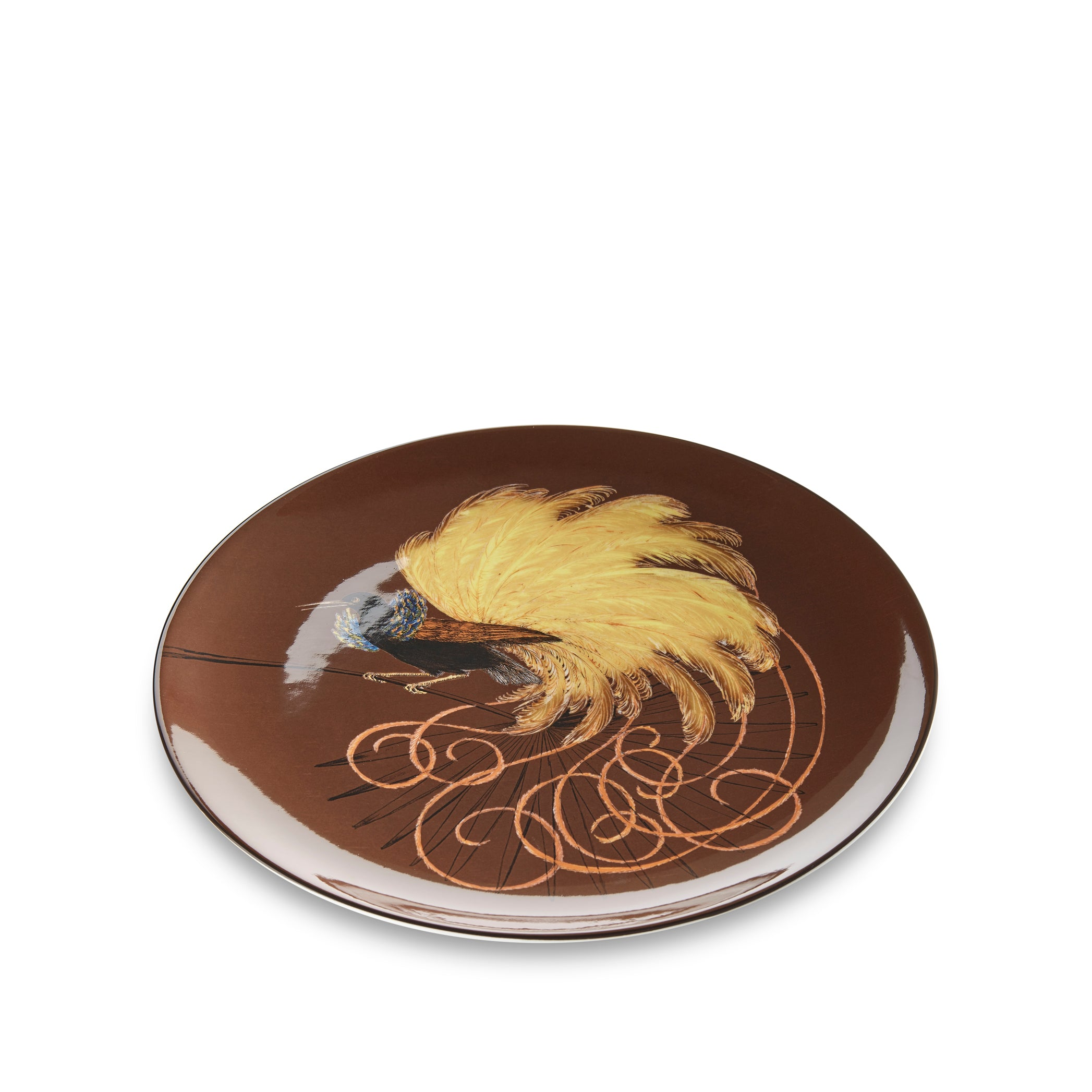 Bird Of Paradise 25cm Dinner Plate in Brown
