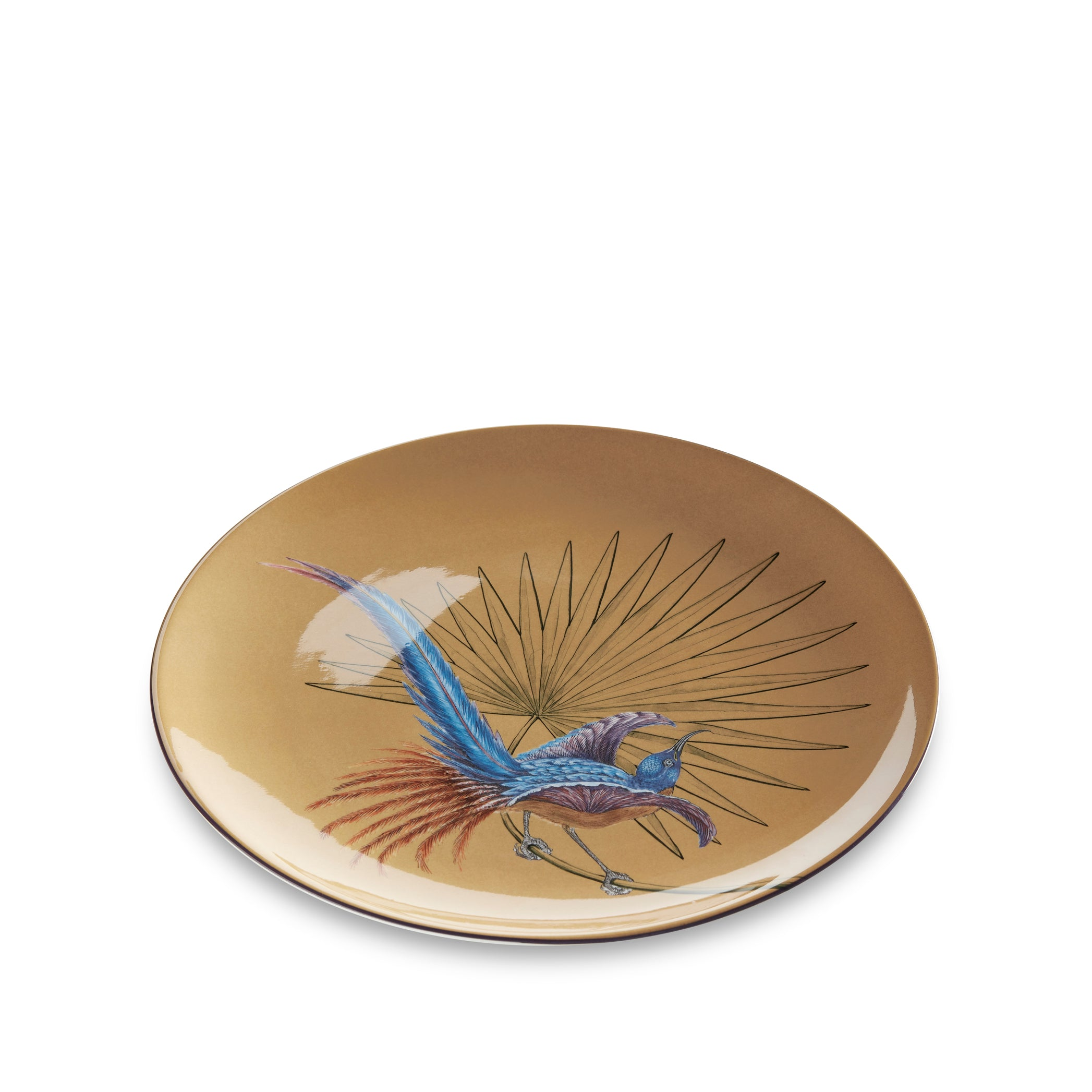 Bird Of Paradise 25cm Dinner Plate in Ochre