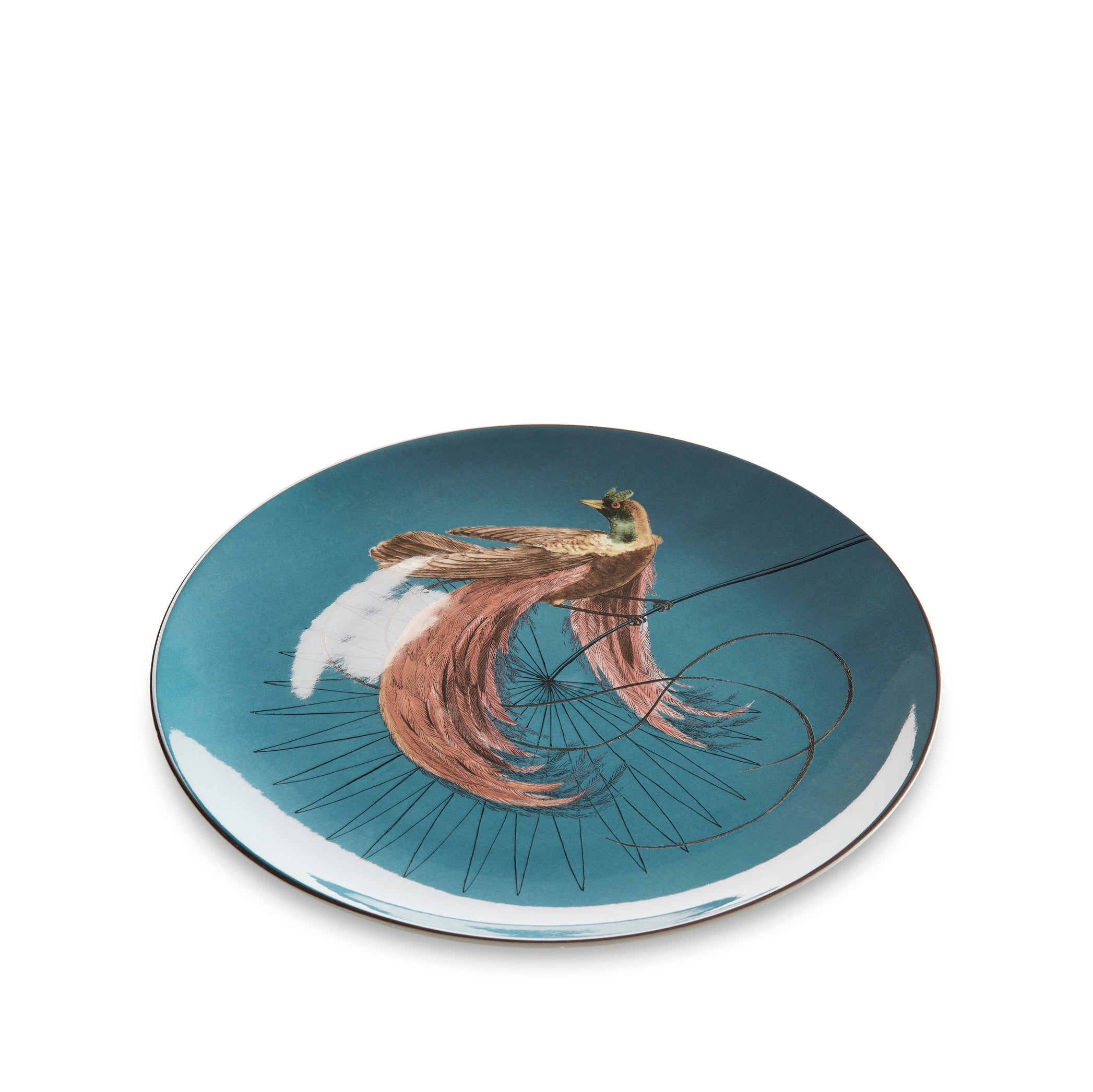 Bird Of Paradise 25cm Dinner Plate in Blue