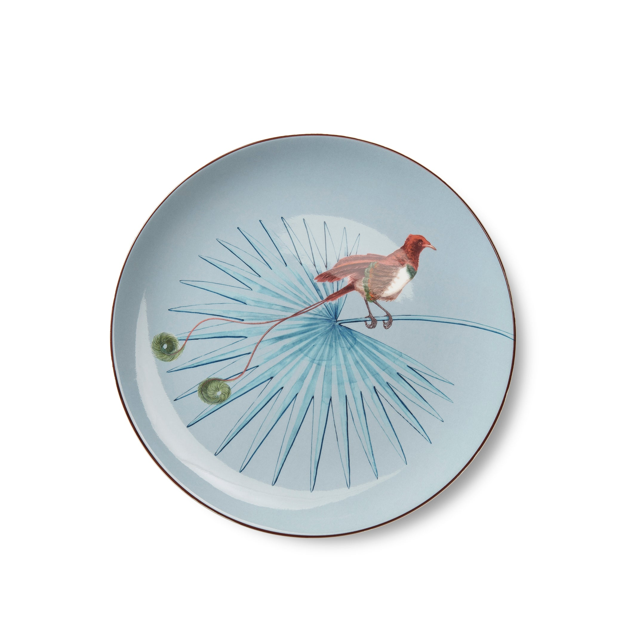Bird Of Paradise 25cm Dinner Plate in Azure