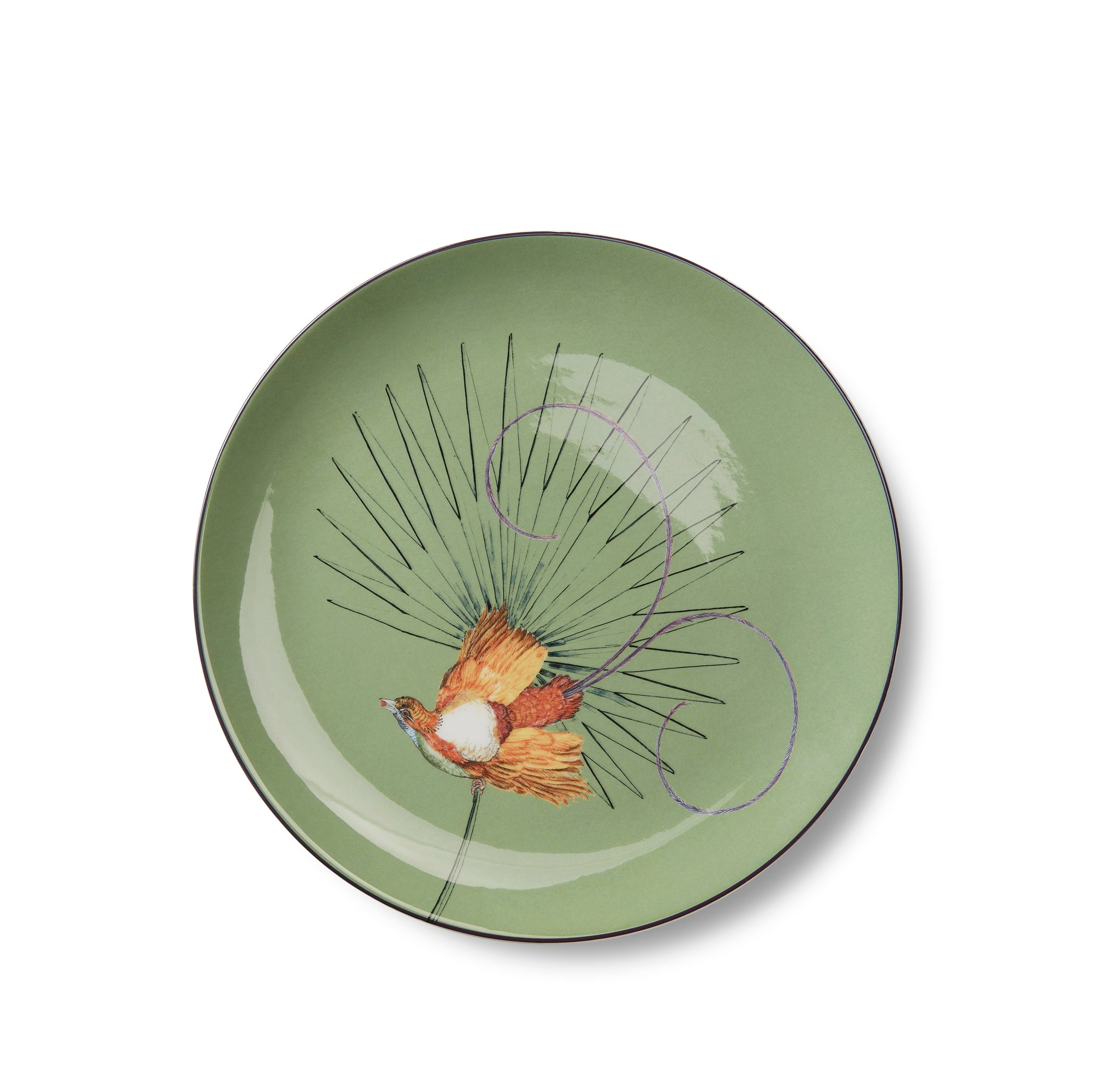Bird Of Paradise 25cm Dinner Plate in Sage