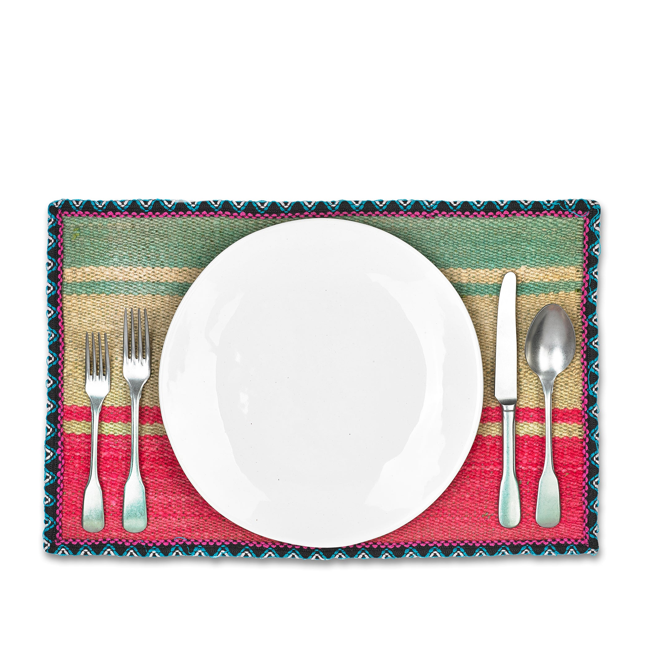 Peruvian Wool Placemat with Black Trim