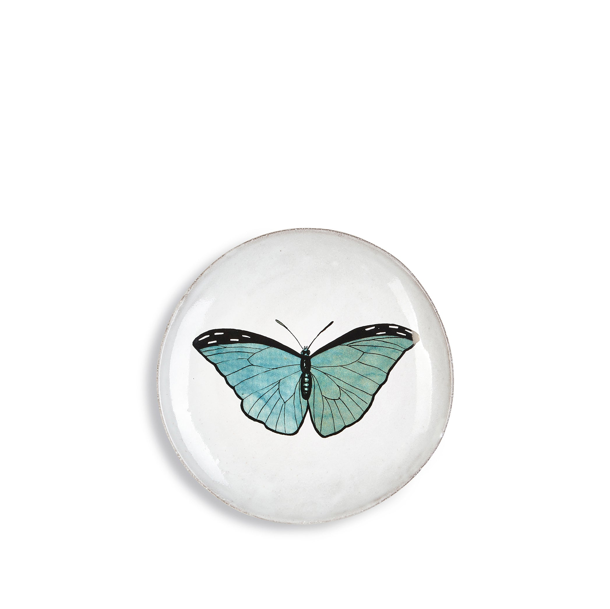 Blue Butterfly Dinner Plate by Astier de Villatte