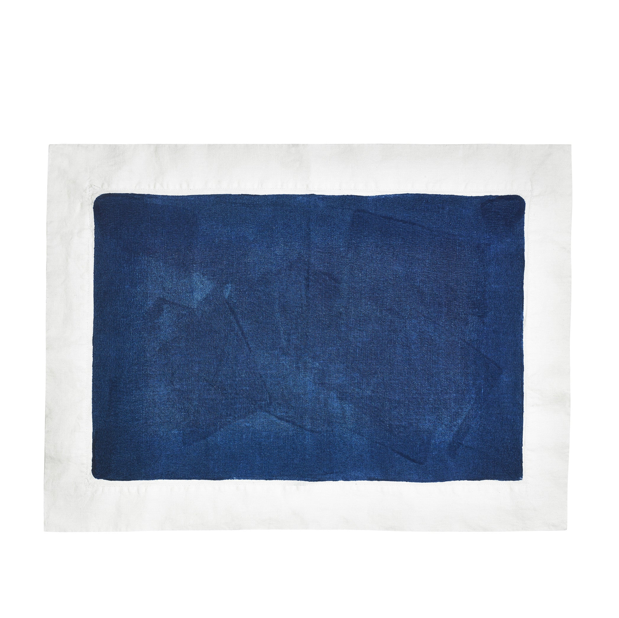 Hand Painted Full Field Linen Placemat in Midnight Blue