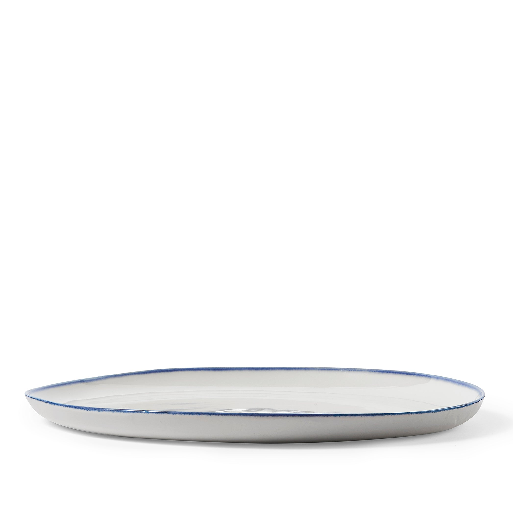 Made to order - S&B Handmade 31cm Porcelain Dinner Plate with Midnight Blue Rim