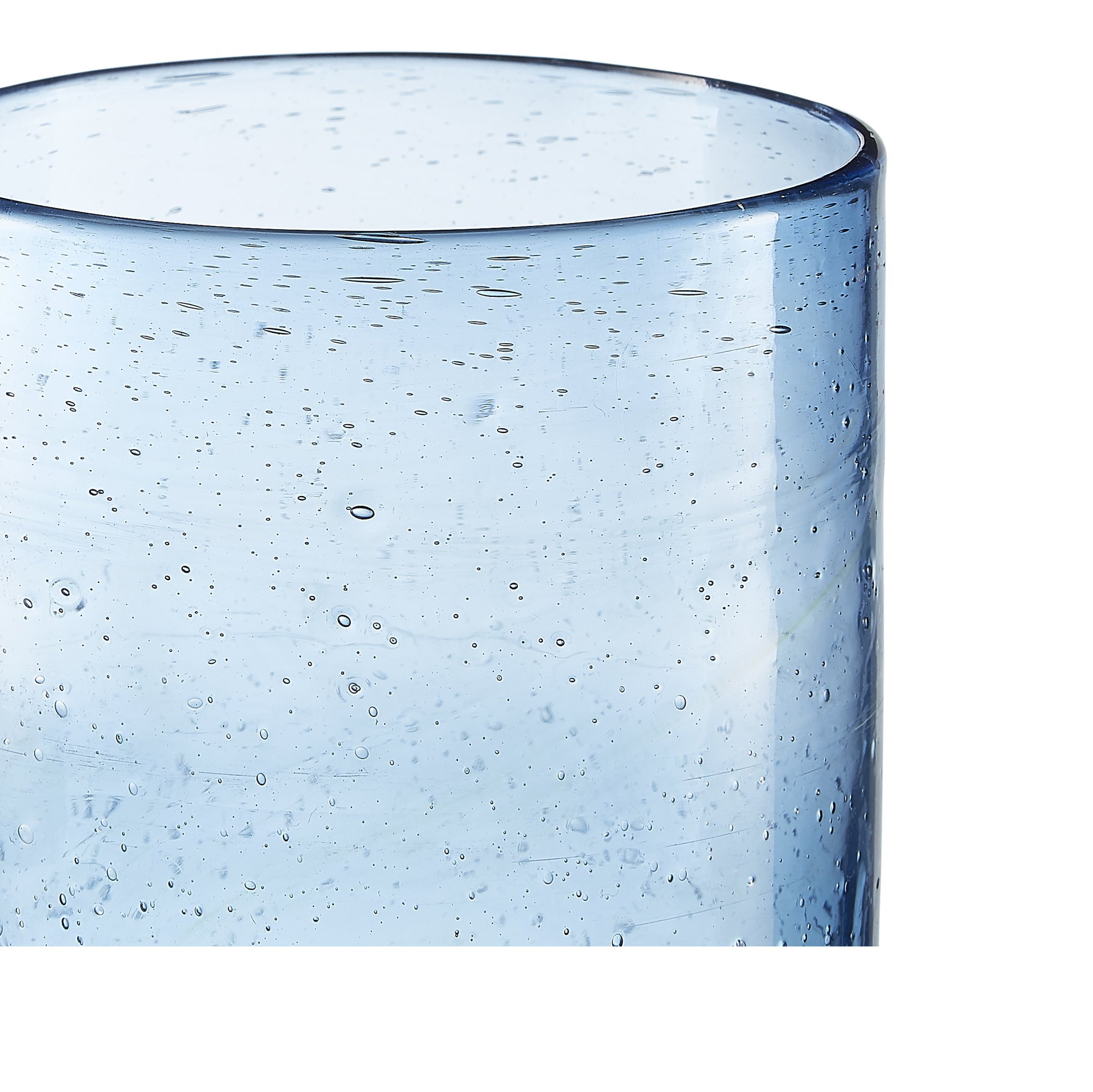 Handblown Water Tumbler in Pale Blue