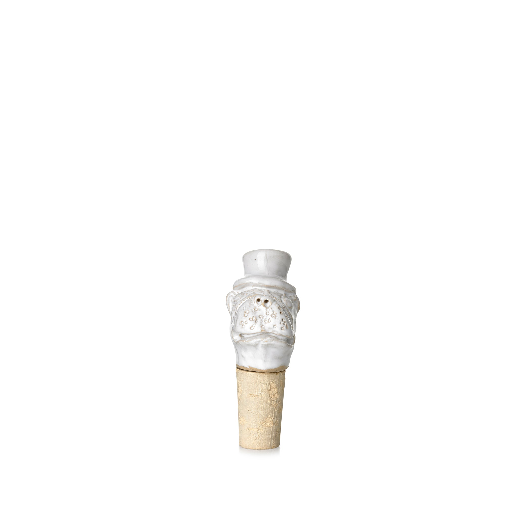 PRE ORDER - Canis 'Pug' Ceramic Bottle Stopper