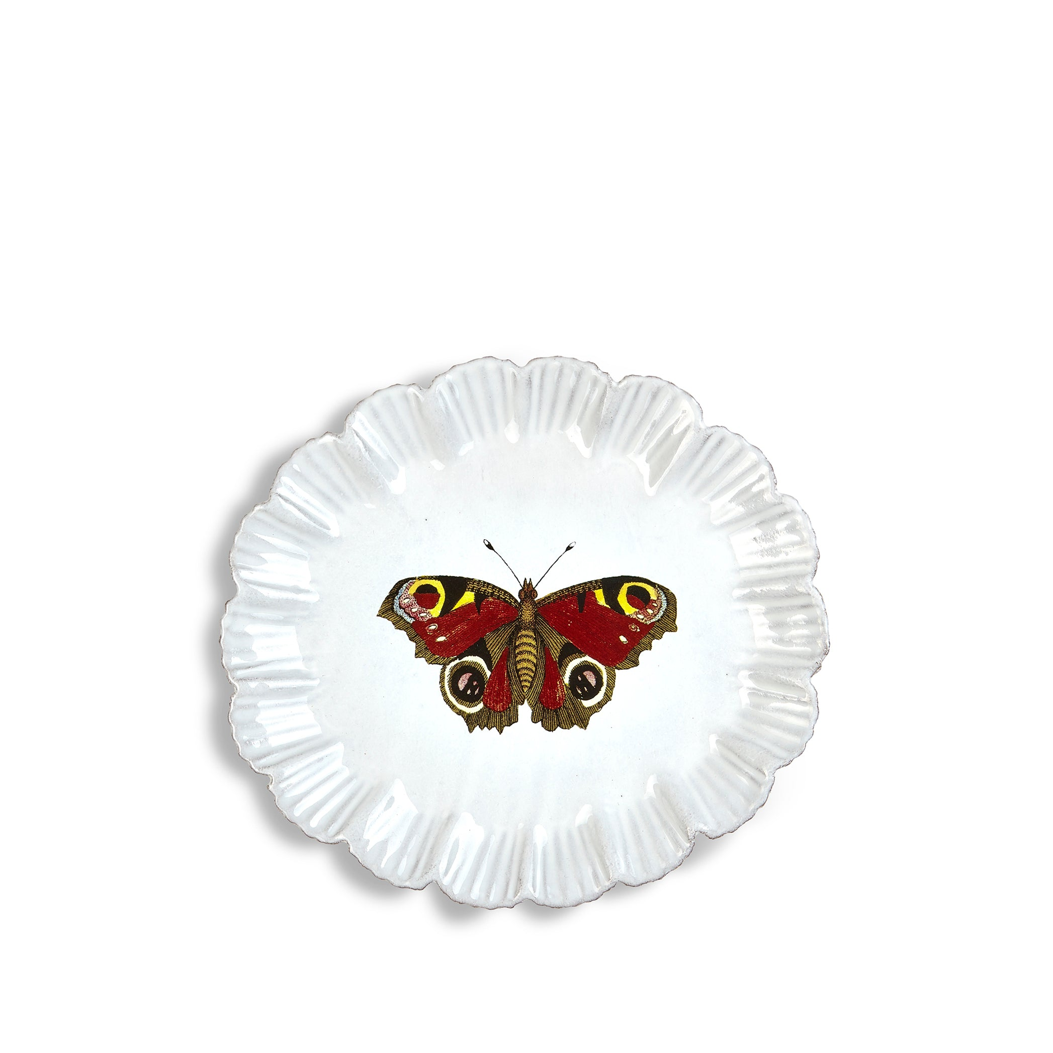 Burgundy Butterfly Dinner Plate by Astier de Villatte