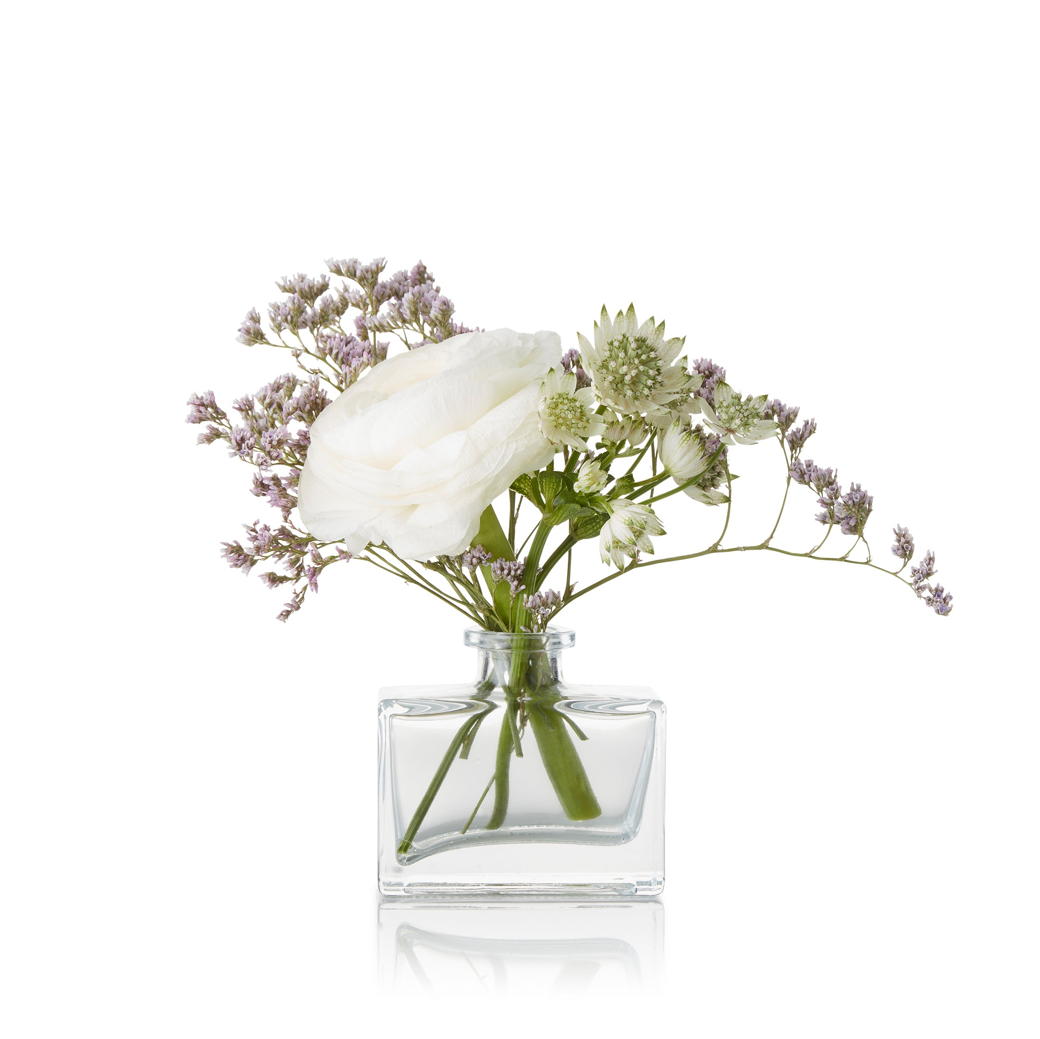 Rectangular Bud Vase in Clear