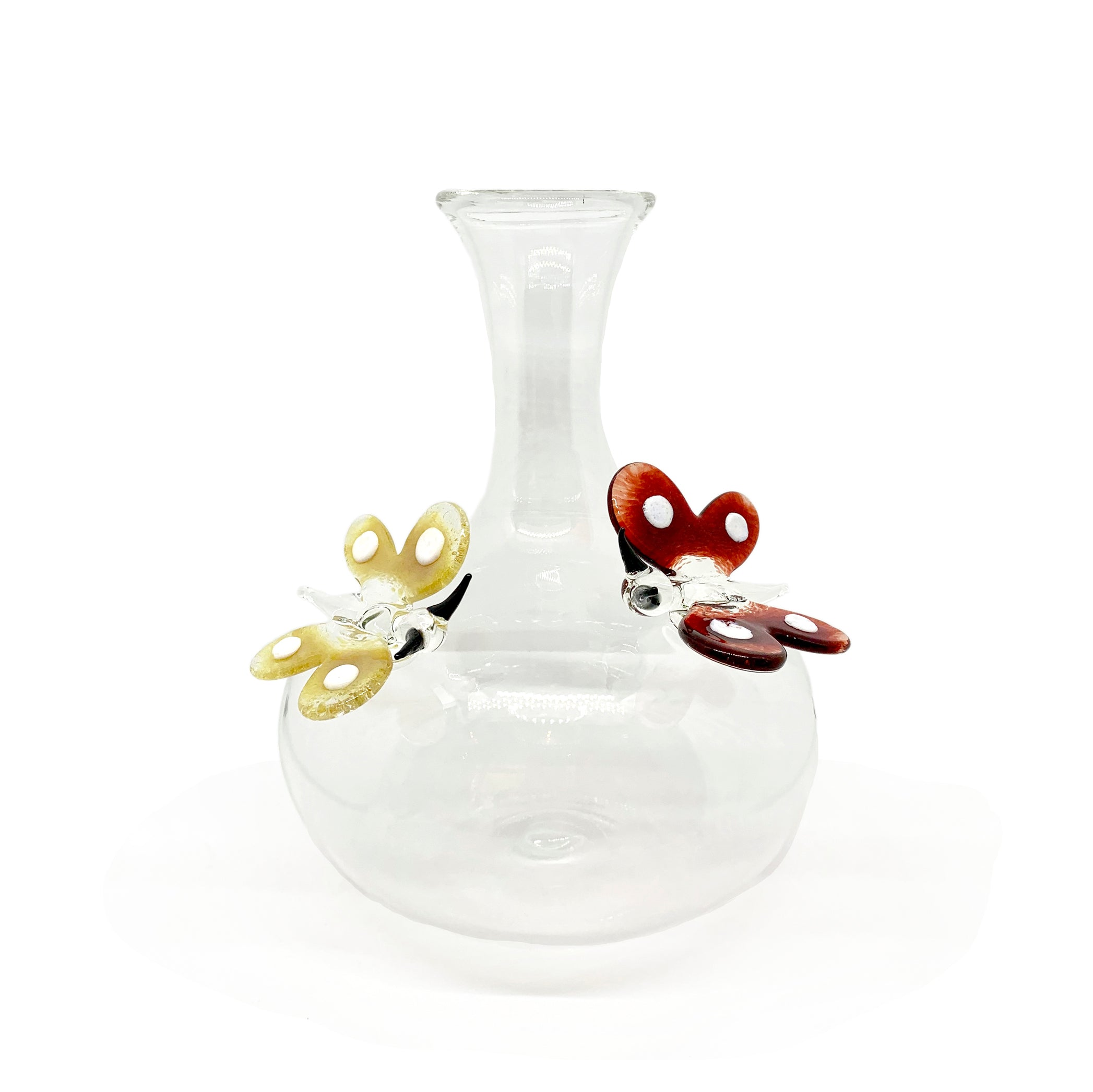 Handblown Glass Butterfly Decanter