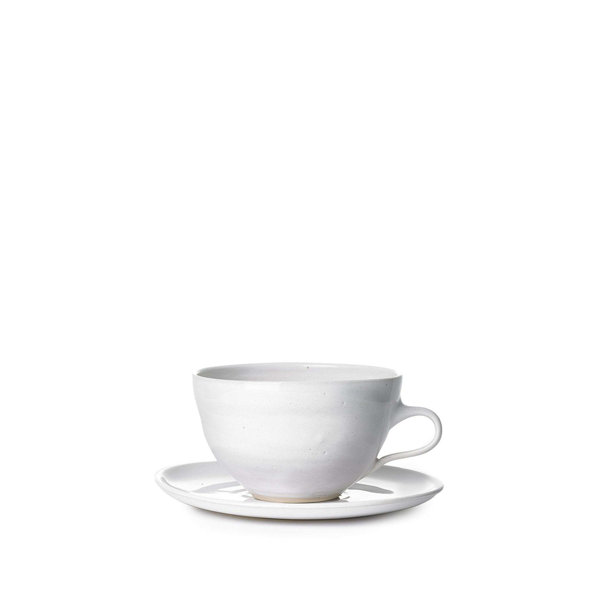 Wonki Ware Cappuccino Cup & Saucer in White