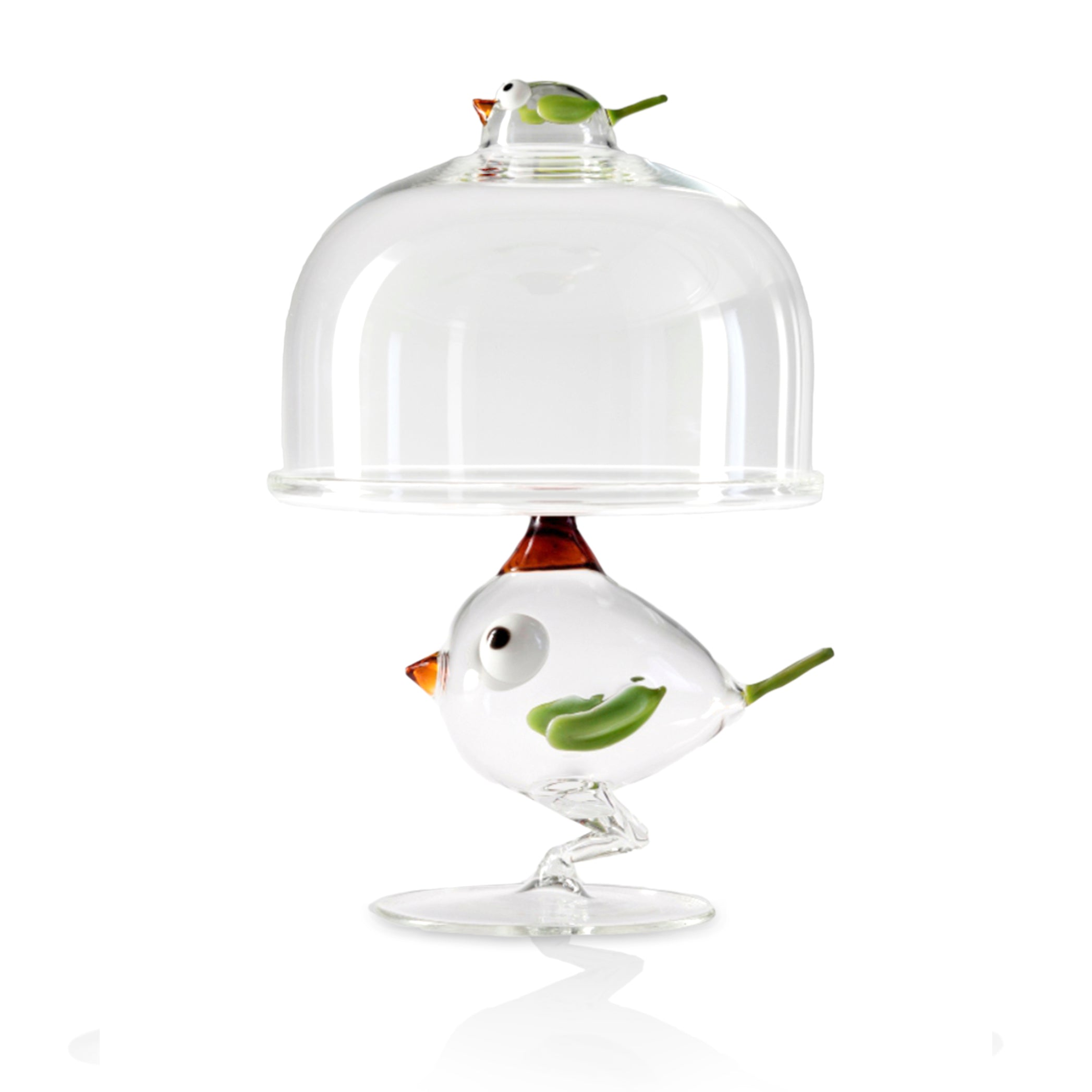 Handblown Glass Chick Cake Stand