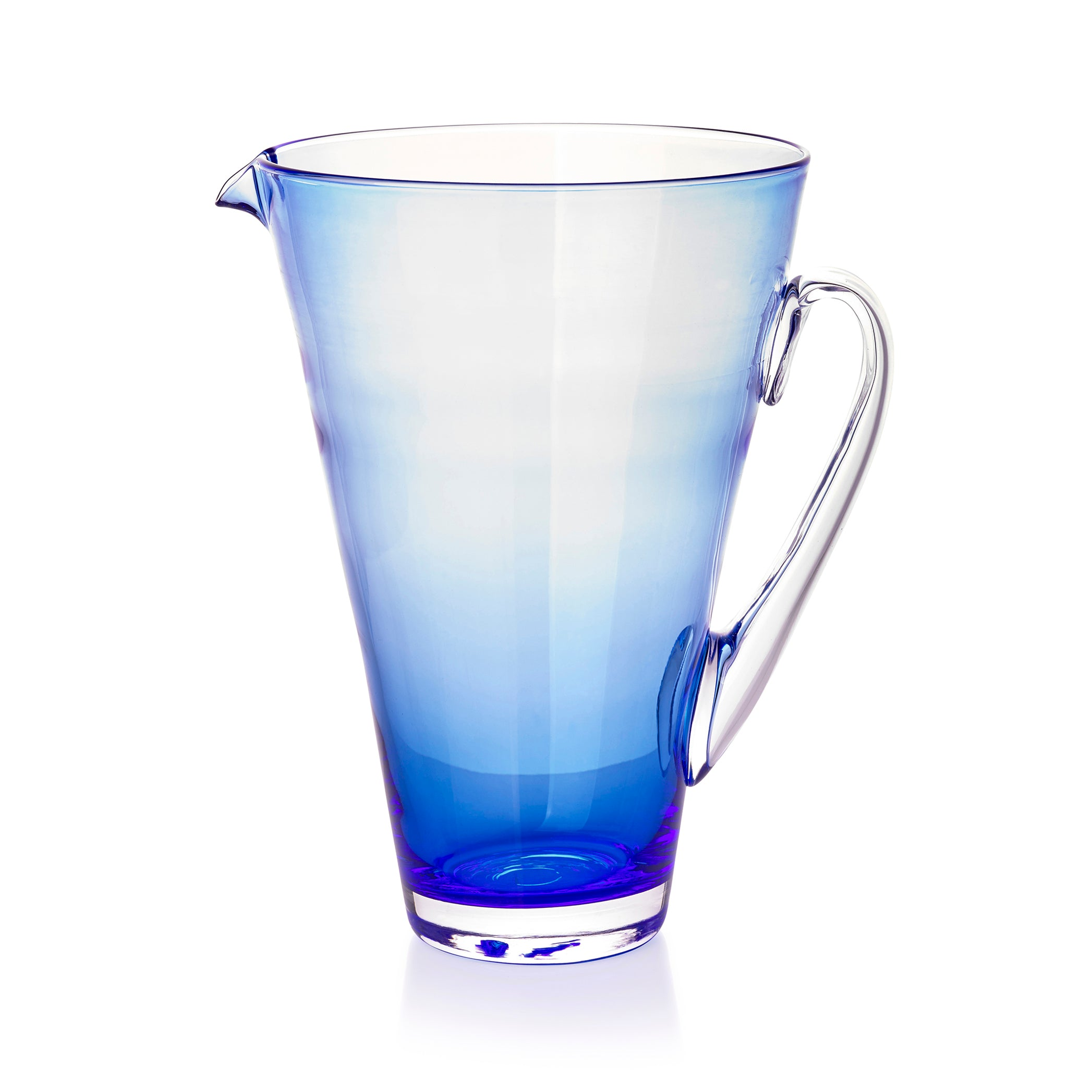 Handblown Glass Clair Jug in Midnight Blue