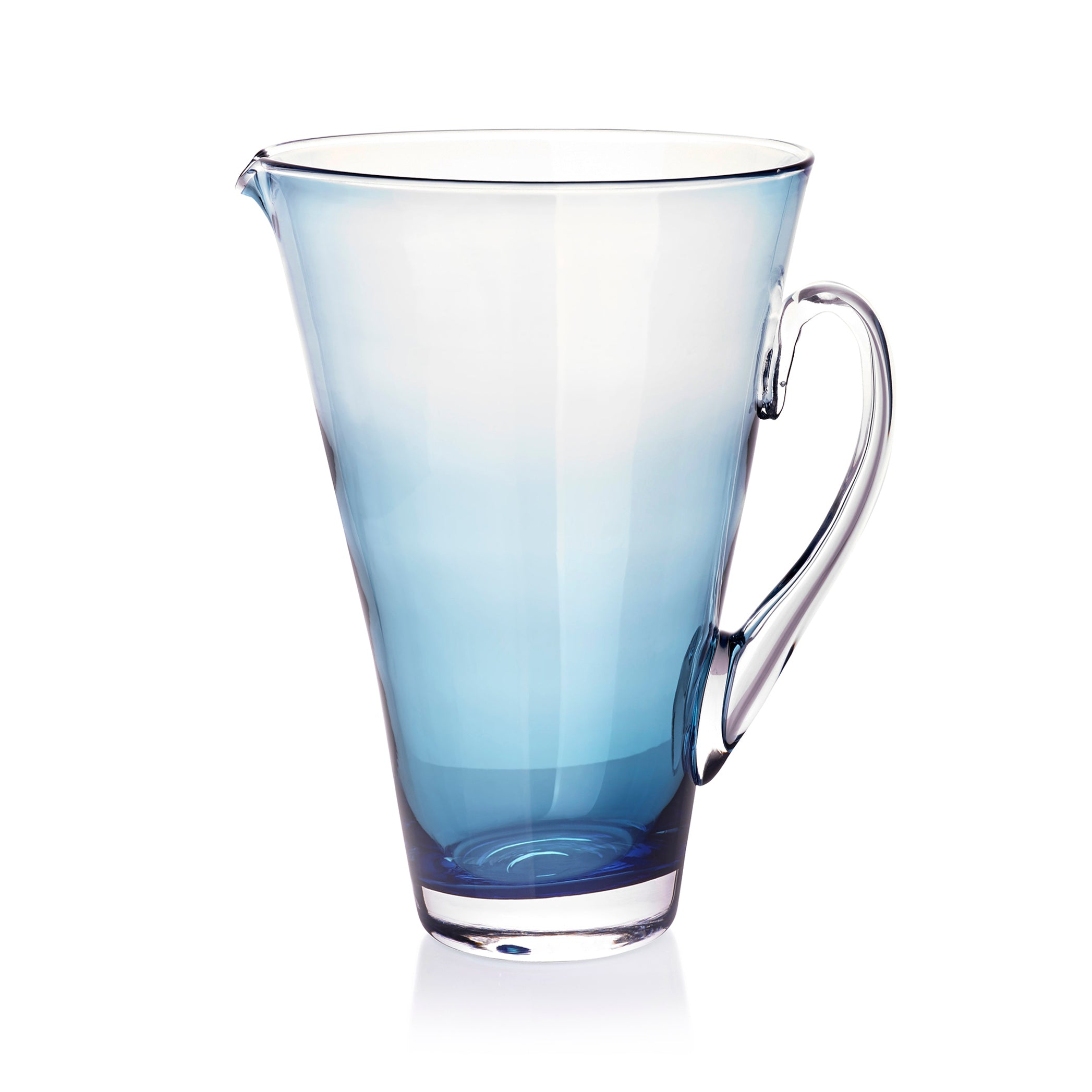 Handblown Glass Clair Jug in Turquoise