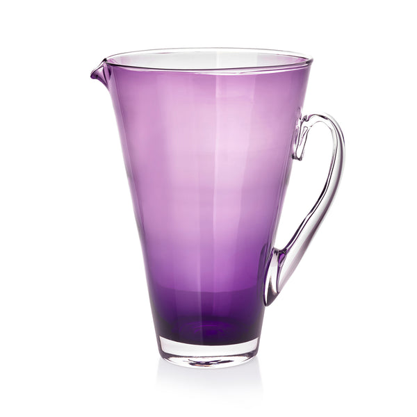 Handblown Glass Clair Jug in Grape Purple
