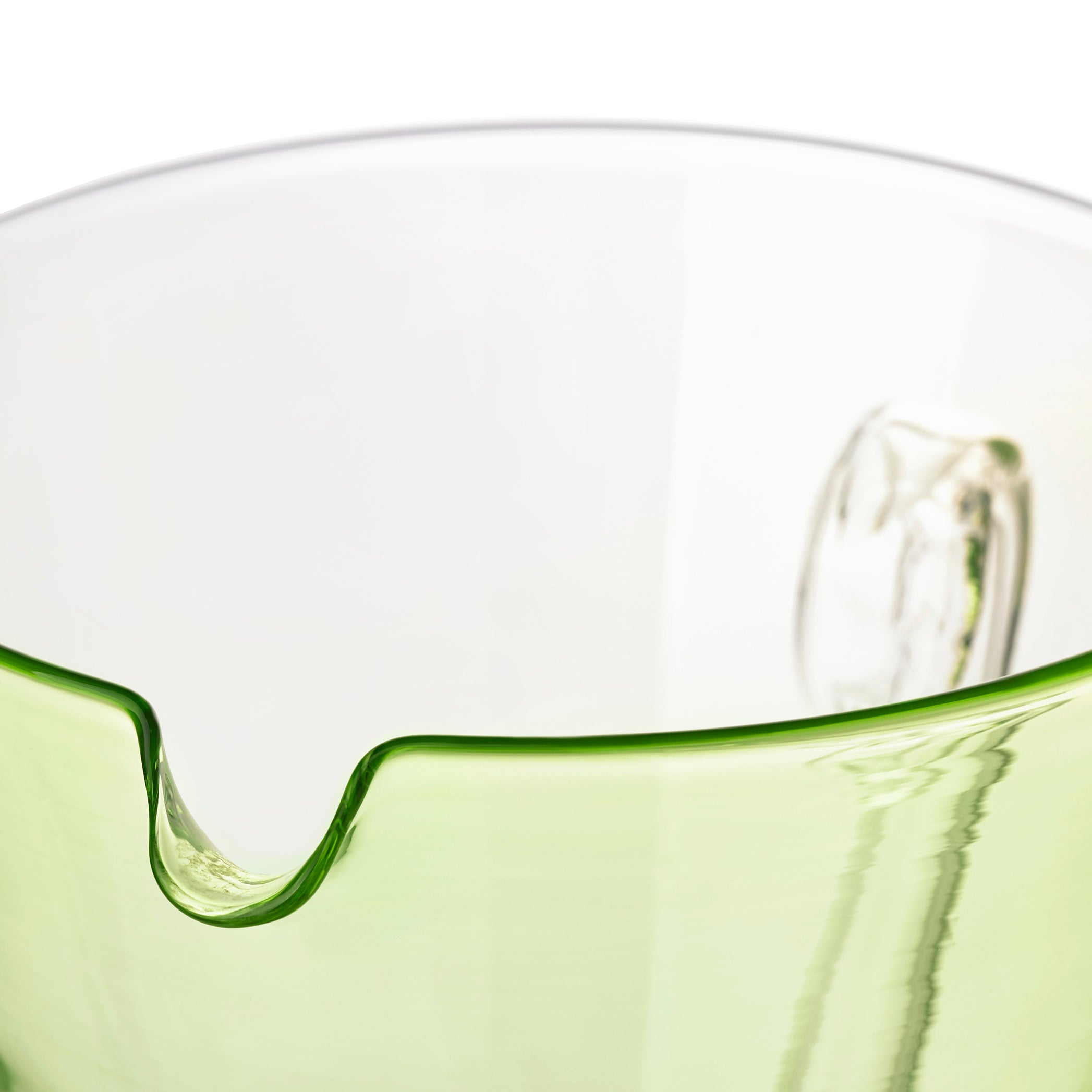 Handblown Glass Clair Jug in Lime Green