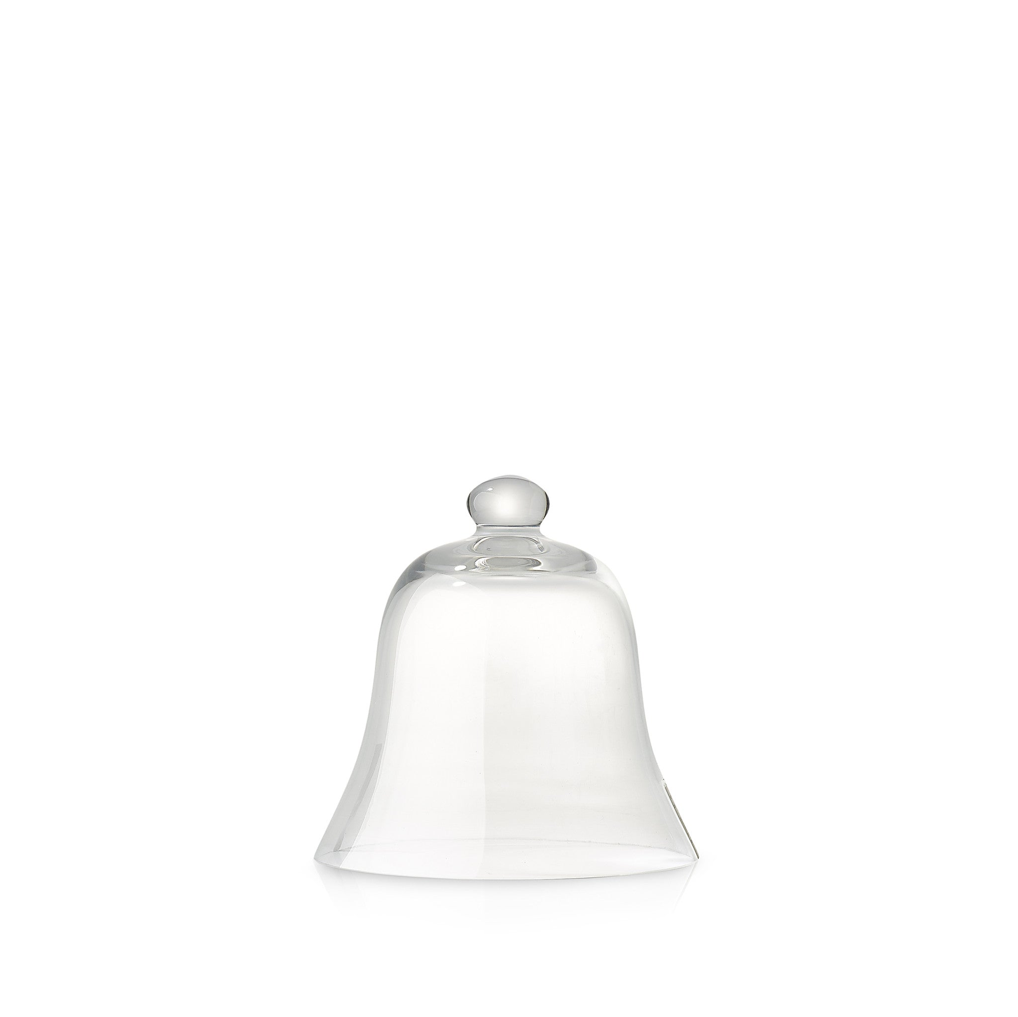 Bell Shaped Glass Cloche, 21cm