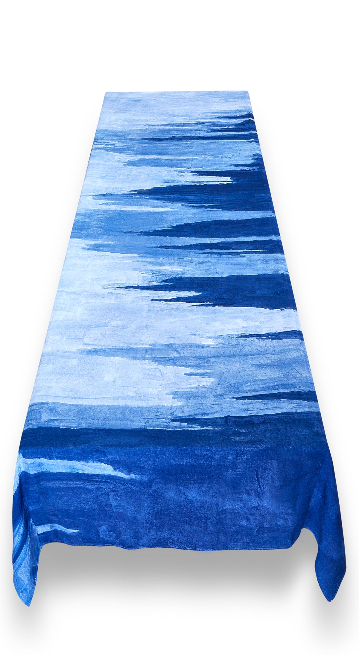 """A Sea Of Blues"" S&B x Le Club 55 Linen Tablecloth"