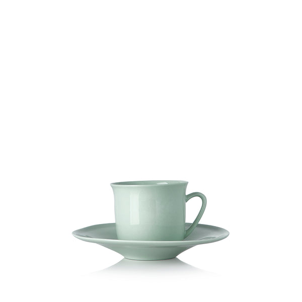 Turkish Coffee Cup and Saucer in Mint Green
