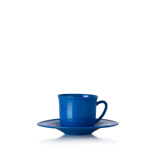 Turkish Coffee Cup and Saucer in Parliament Blue