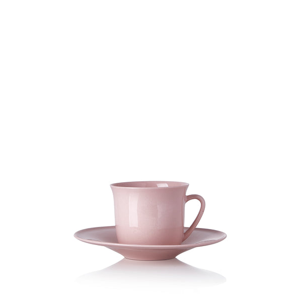 Turkish Coffee Cup and Saucer in Pink