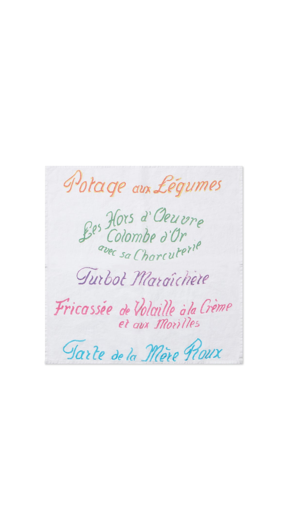 25th Anniversary 'Le Menu' S&B x La Colombe d'Or Linen Napkins, Set of Two